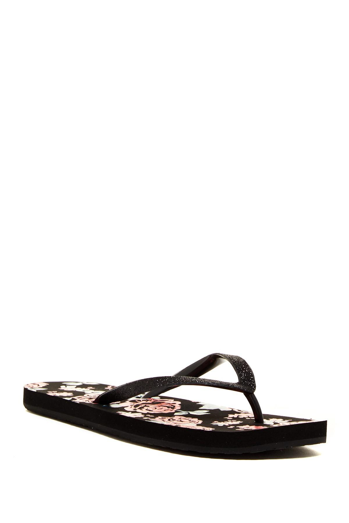 abea97b6b3965 Lyst - Reef Stargazer Prints Thong Sandal in Black