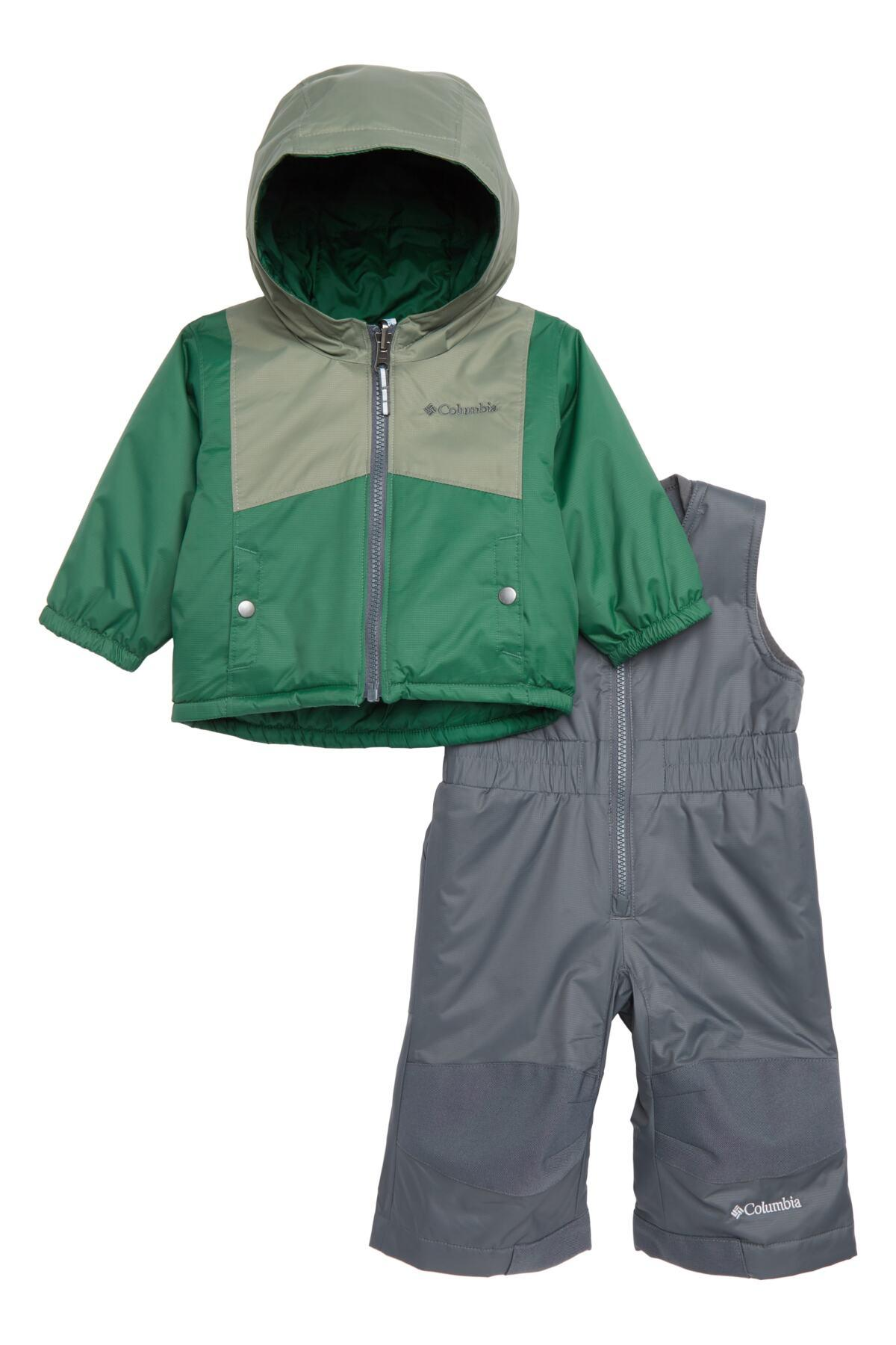 52d8caf07 Columbia - Green Double Flake Waterproof Insulated Jacket & Bib Snowsuit (baby  Girls) for. View fullscreen