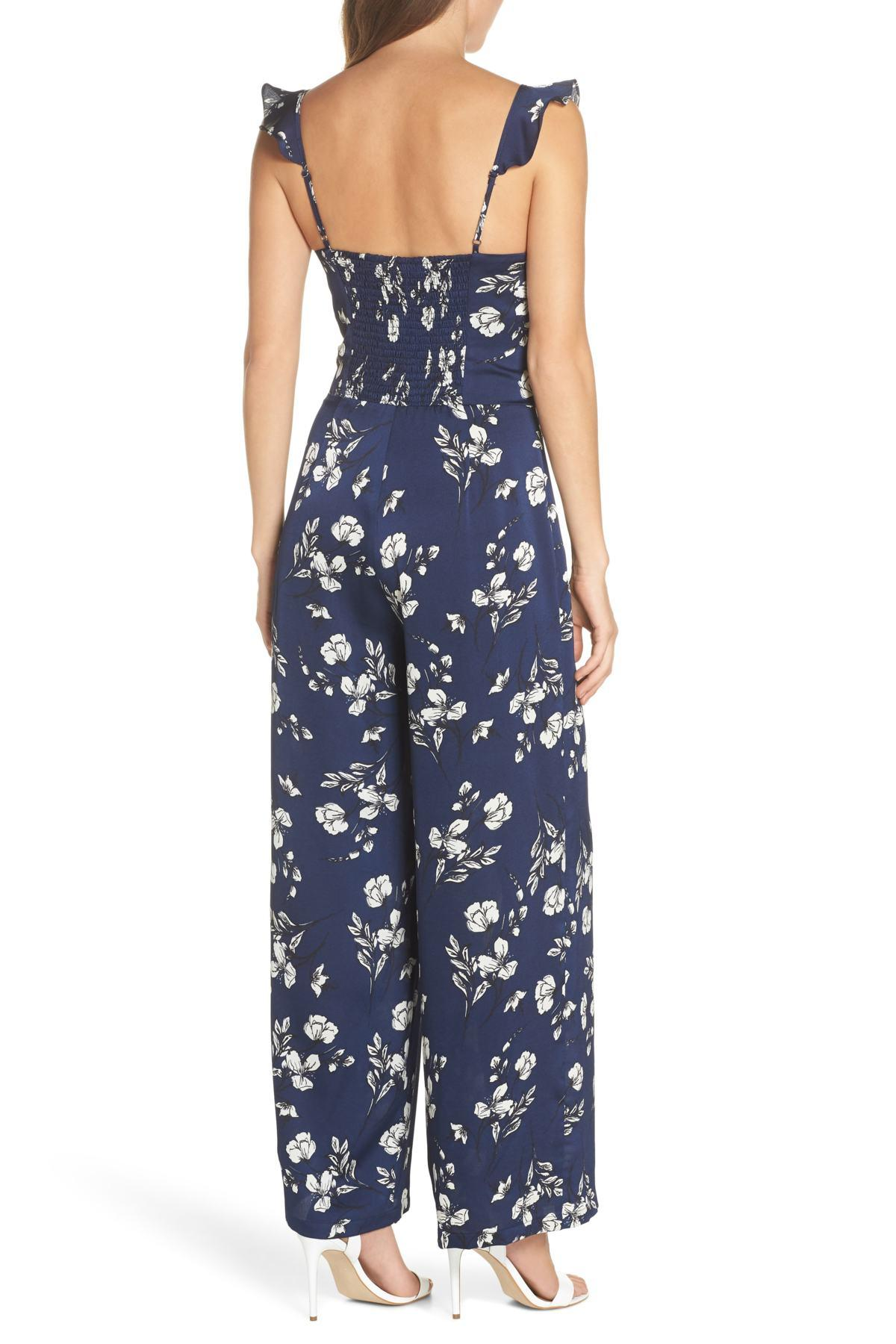 fe16f1022f90 Lyst - Chelsea28 Tie Front Jumpsuit in Blue