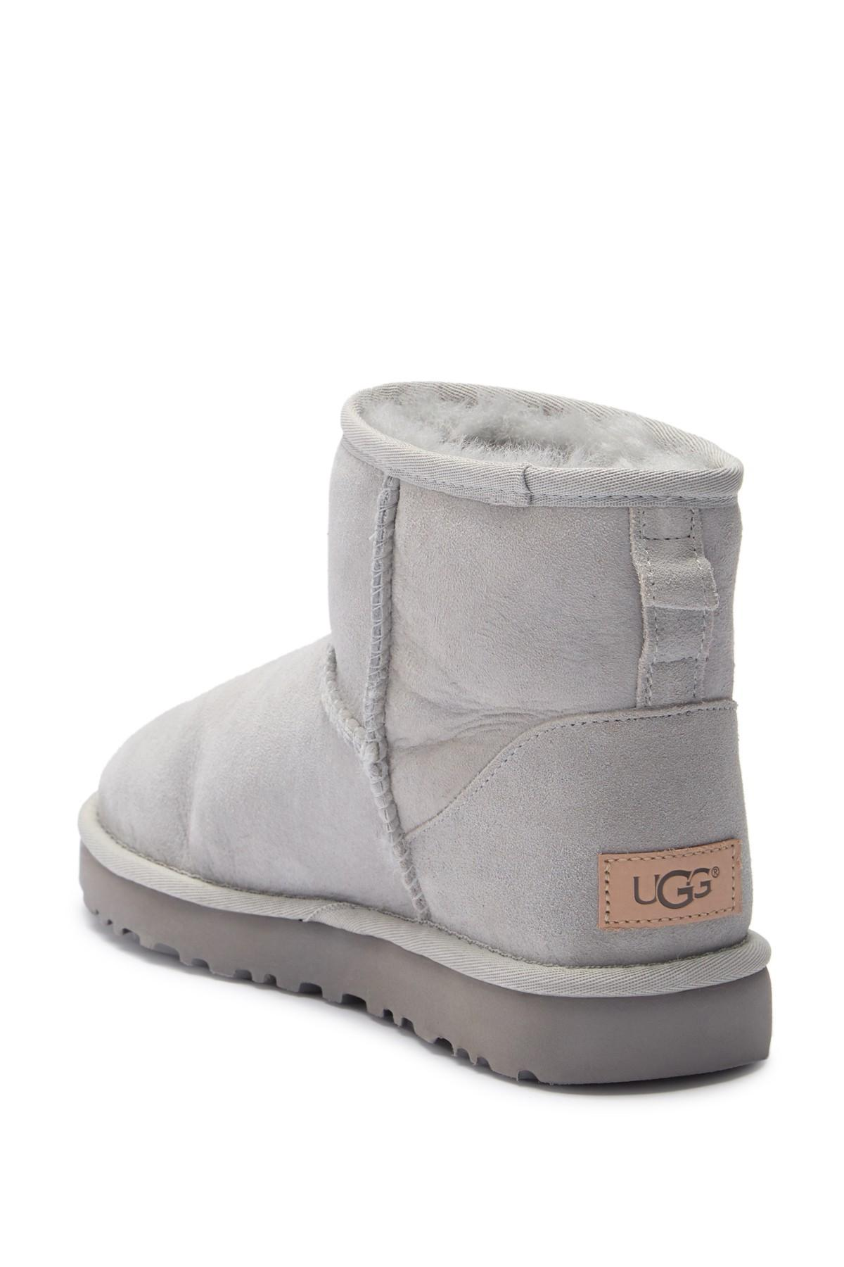 47403be6c49 Ugg Gray (r) Classic Mini Ii Genuine Shearling Lined Boot (women)