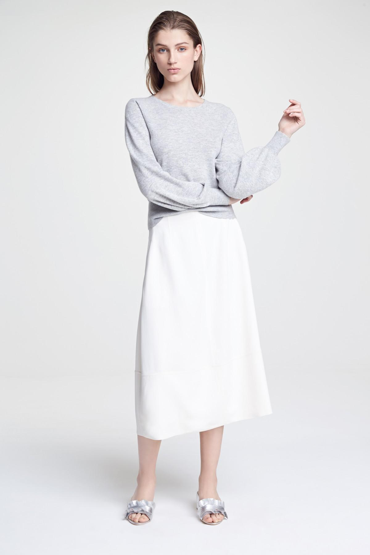 0b7654b64 Elizabeth and James Lottie A-line Midi Skirt in White - Lyst