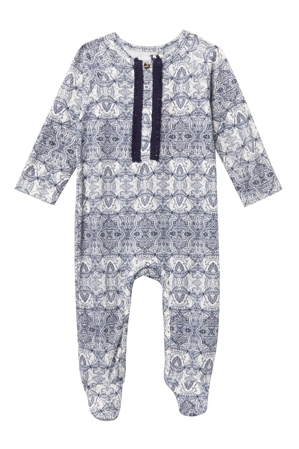 ec791821e Lyst - Jessica Simpson Printed Footie (baby Girls) in Blue
