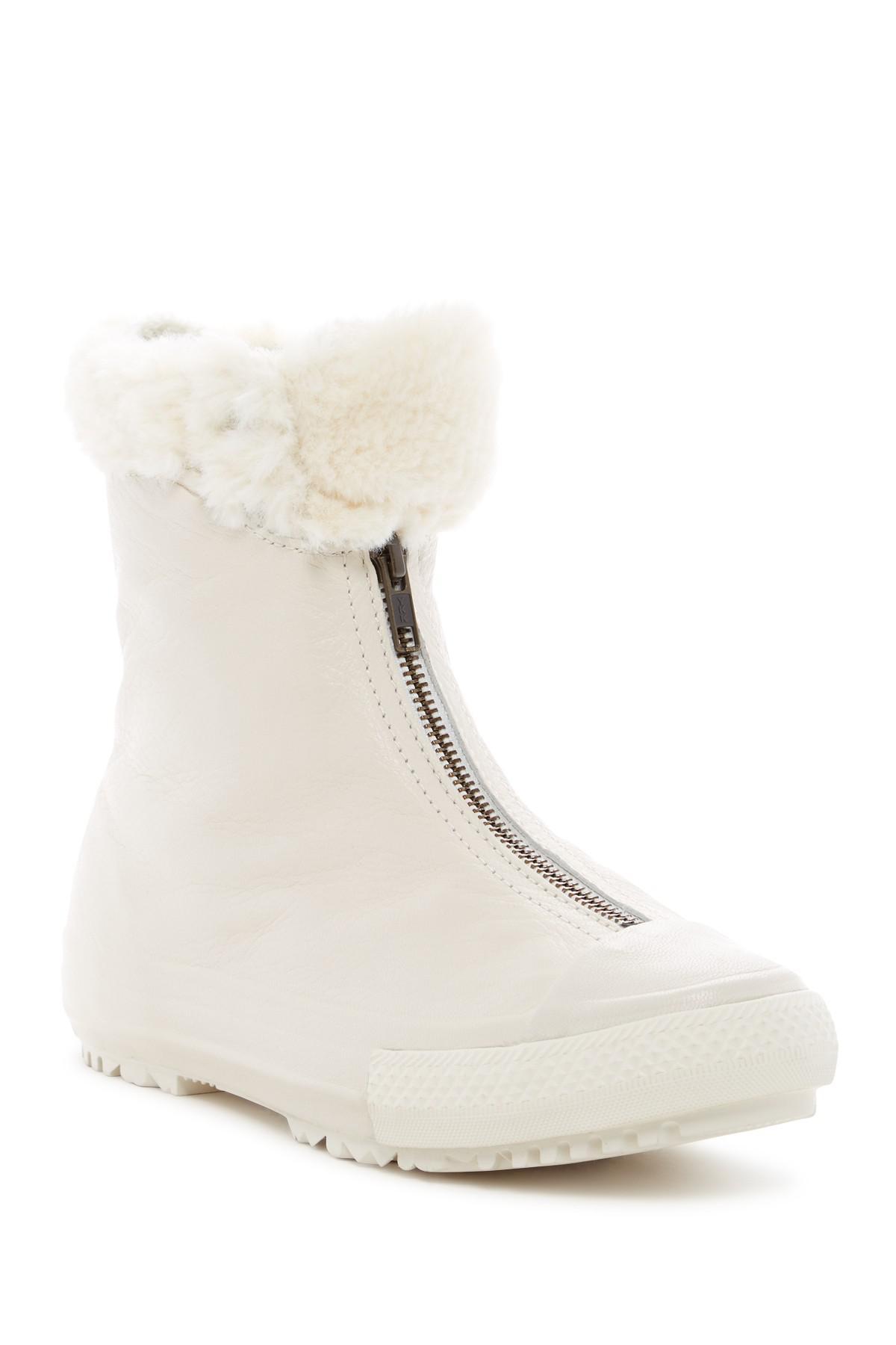 9d3d46e4993 Lyst - Converse Chuck Taylor All Star Shroud Faux Fur Lined Boot (women)