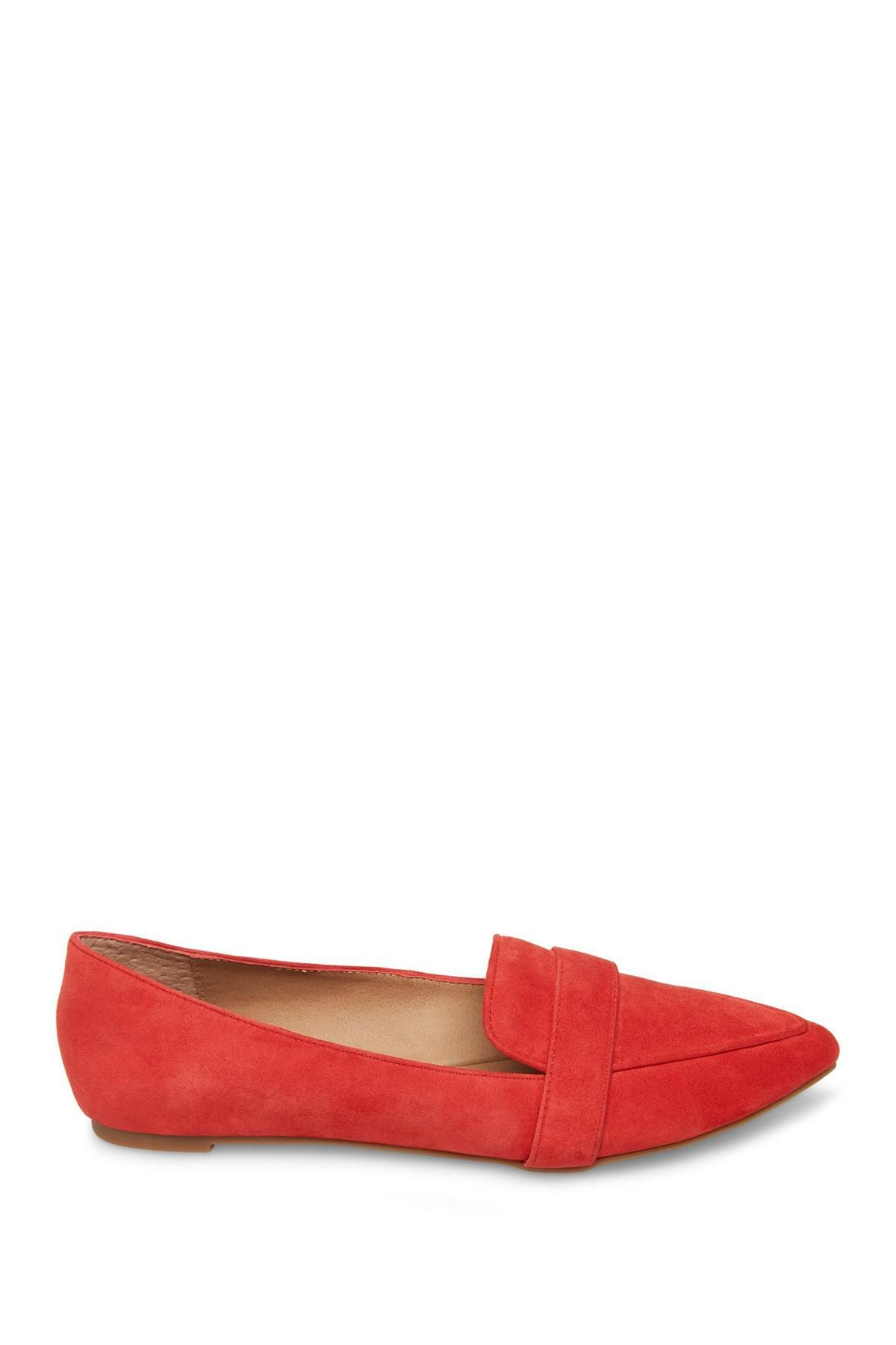 006a4a2bea3 Steve Madden - Red Jainna Suede Penny Loafer - Lyst. View fullscreen