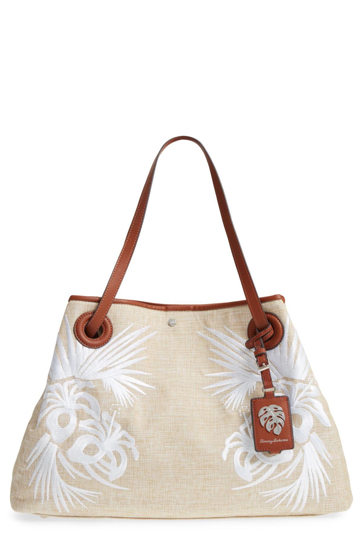 23e95c741 Lyst - Tommy Bahama Waikiki Embroidered Canvas Tote in White