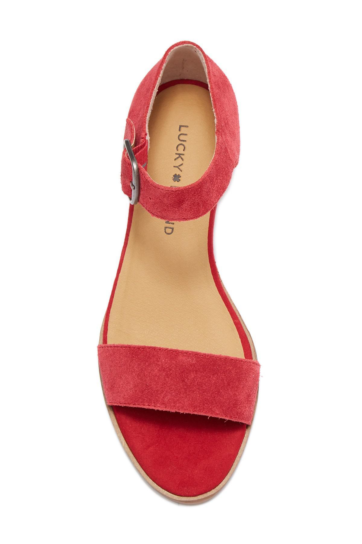 5e7b858a2b2 Lyst - Lucky Brand Renzee Platform Sandal in Red