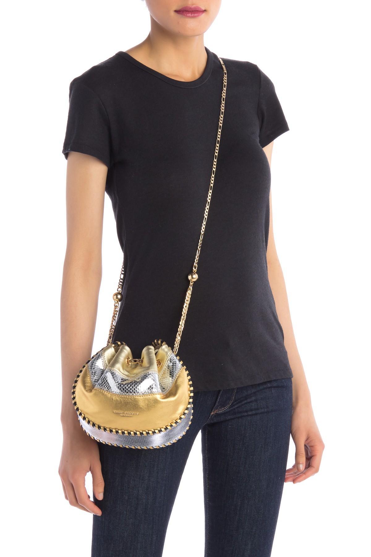 Marc Jacobs Sway Metallic Leather Crossbody Bag Lyst