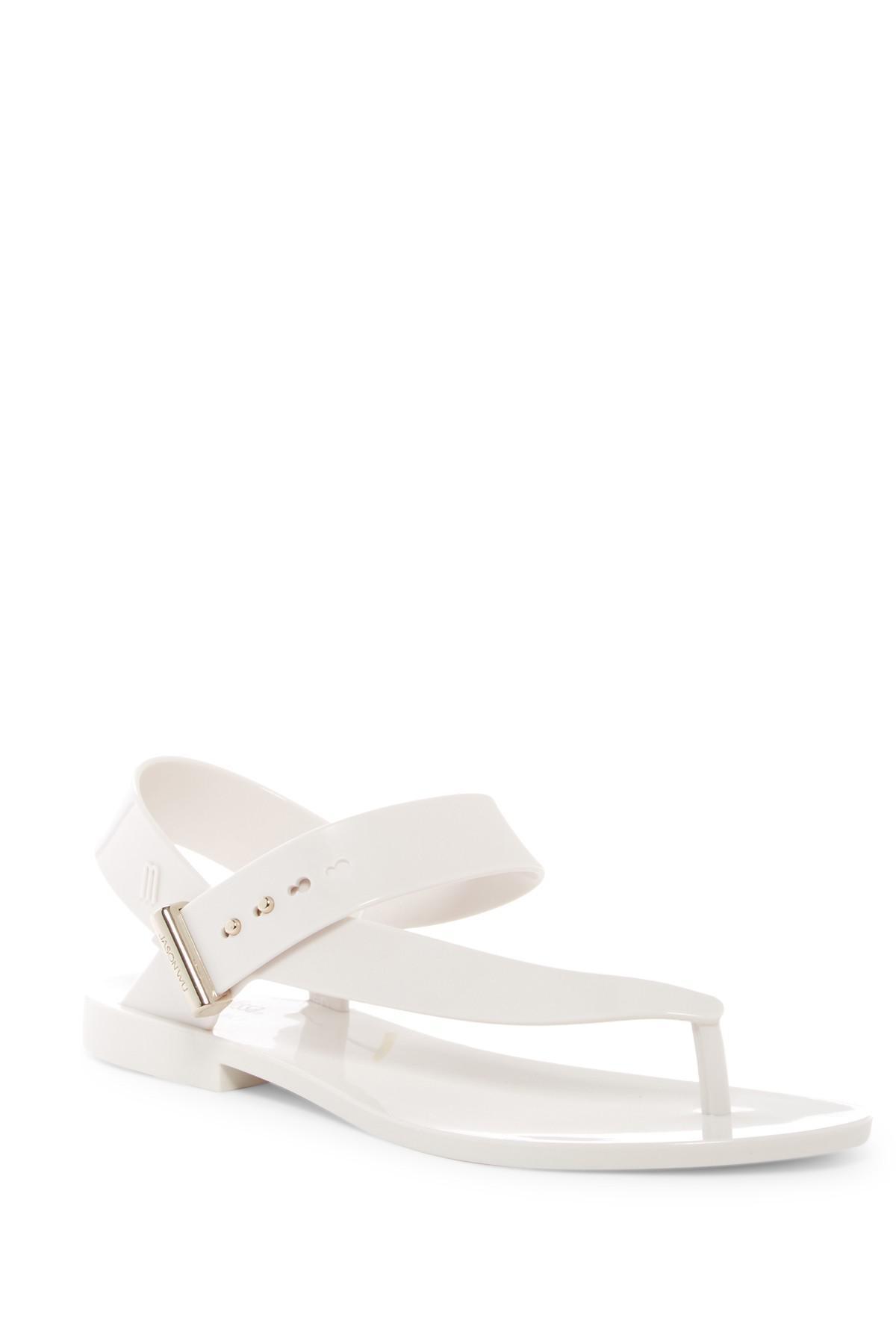 e1995358839f Lyst - Melissa X Jason Wu Asymmetrical Jelly Sandal in White