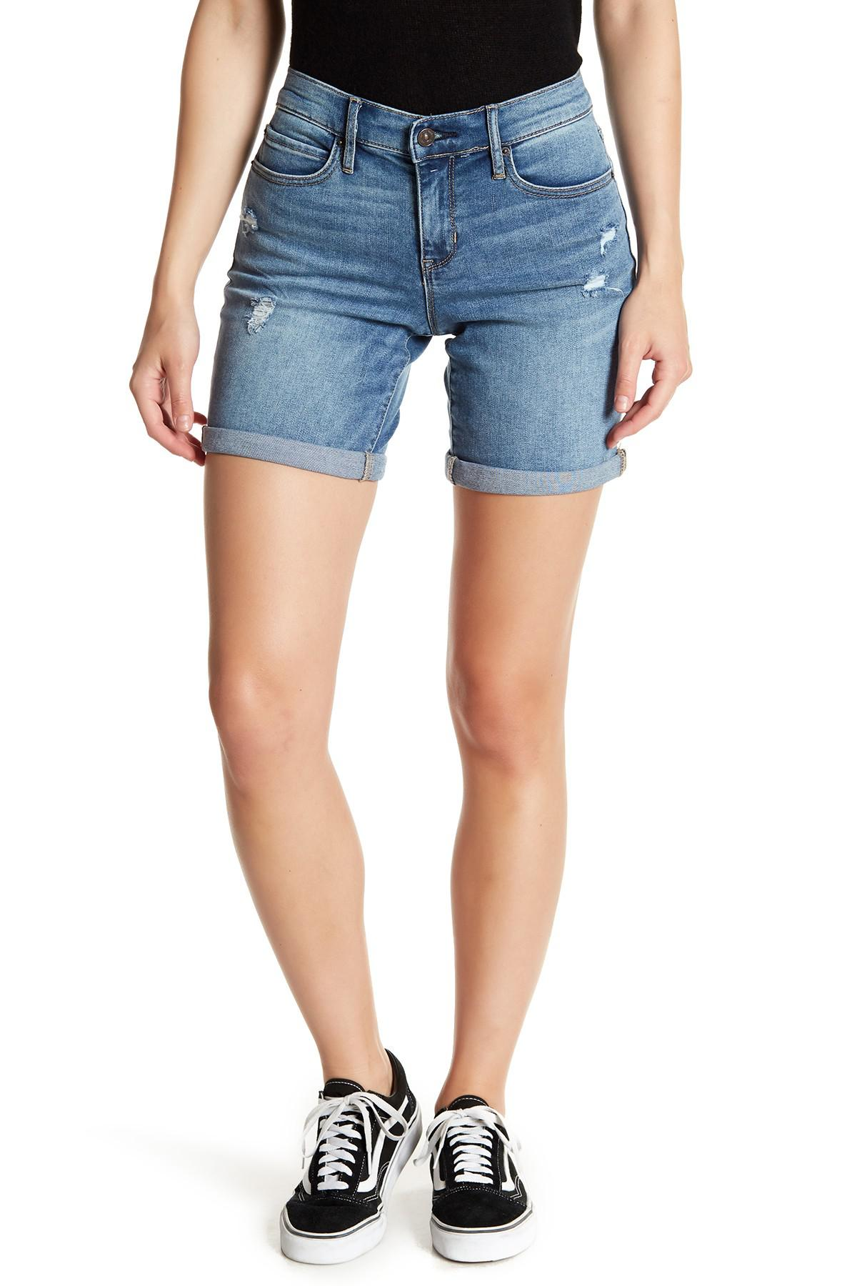high-waisted shorts - Blue Nicole Miller Sale Classic 2018 Newest Free Shipping Latest Collections For Sale Online Sale Supply kM48I7j70w