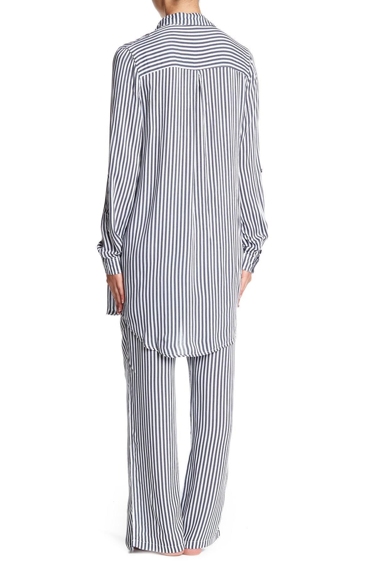b255d4c6ff Lyst - Pj Salvage Simple Stripes Nightshirt in Gray