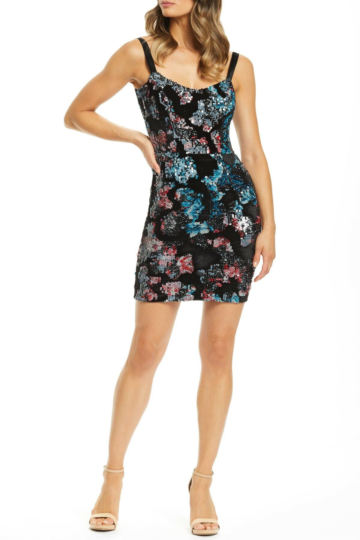 ac3ff56d9e71 Lyst - Dress the Population Lindsay Demi Neckline Sheath (nordstrom ...