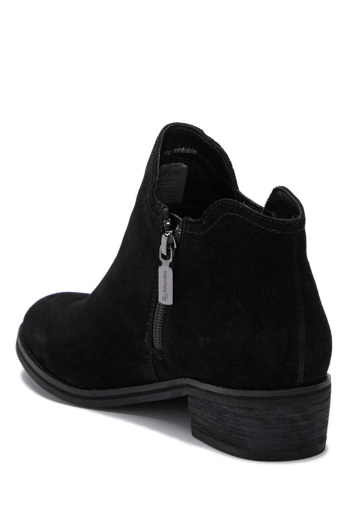 710c0293898 Blondo - Black Lanka Waterproof Suede Ankle Bootie - Lyst. View fullscreen