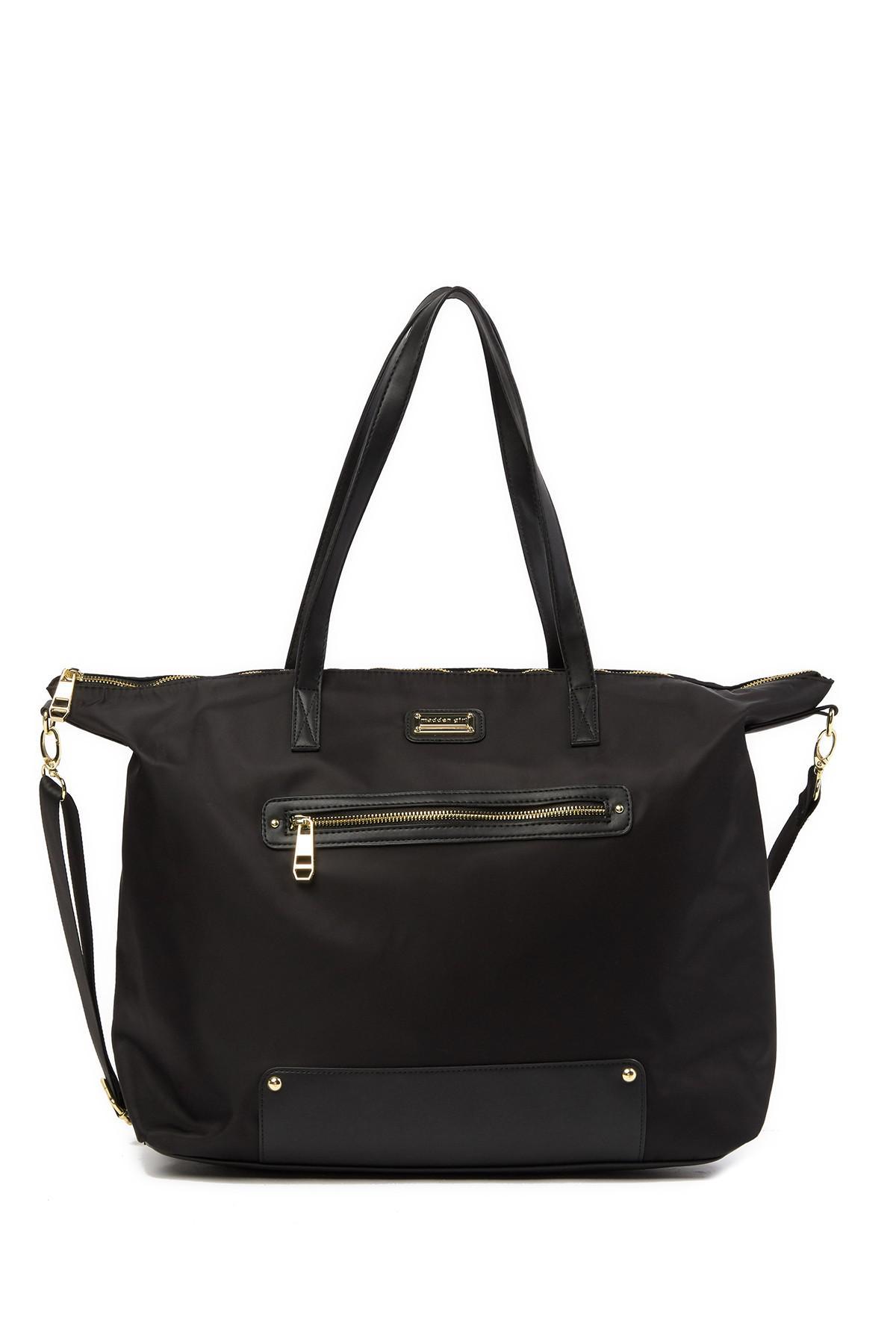 0c8860c9d484 Lyst - Madden Girl Overnighter Tote Bag in Black