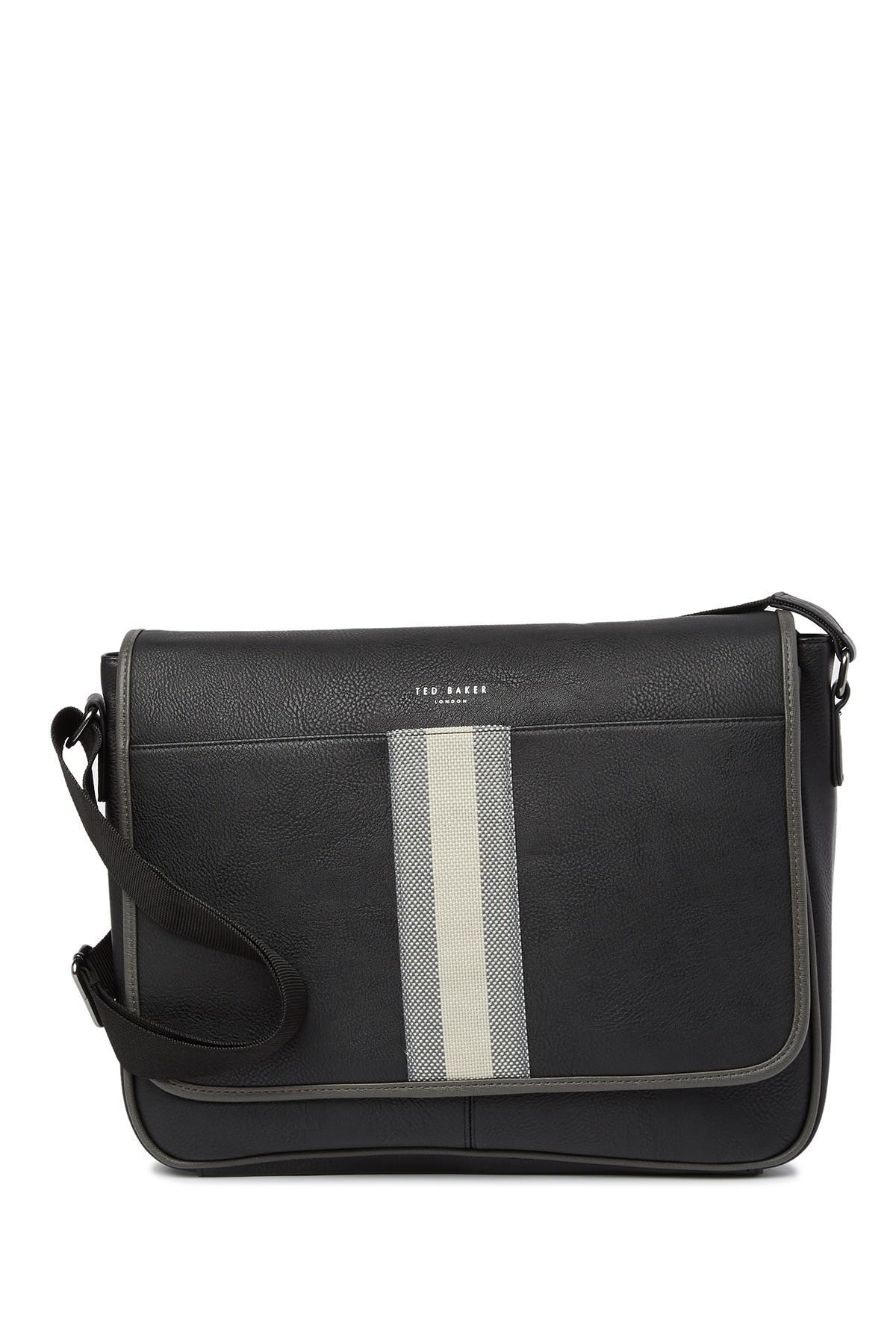 ed9e1589b128e5 Lyst - Ted Baker Needles Webbing Messenger Bag in Black for Men