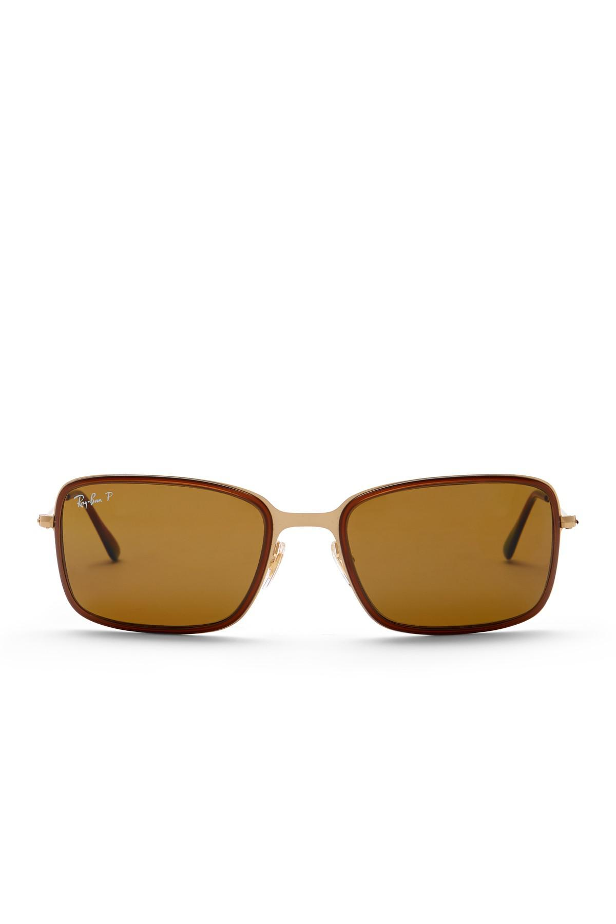 881a687412 Lyst - Ray-Ban Pilot 50mm Polarized Sunglasses in Metallic for Men