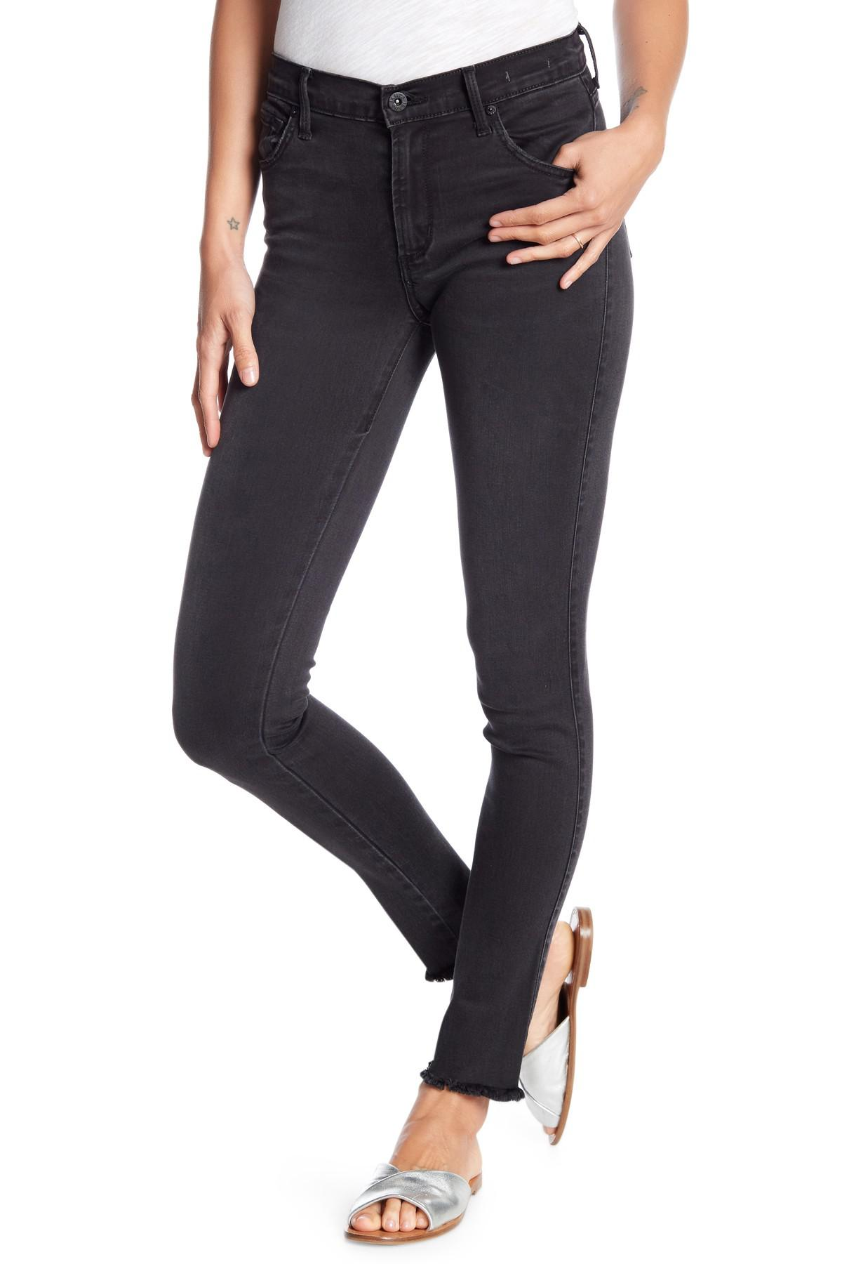 James Jeans Womens J Twiggy Ankle Jean with Released Hem in Smoke