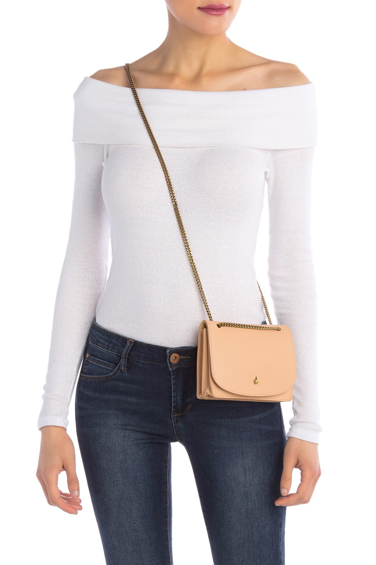 The Chain Leather Crossbody Bag