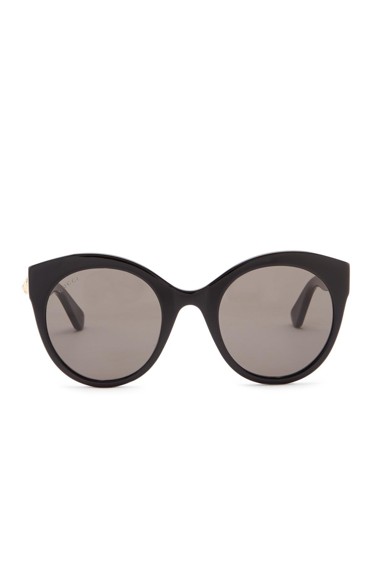 891b542b6c5 Gucci - Black 52mm Round Cat Eye Sunglasses - Lyst. View fullscreen