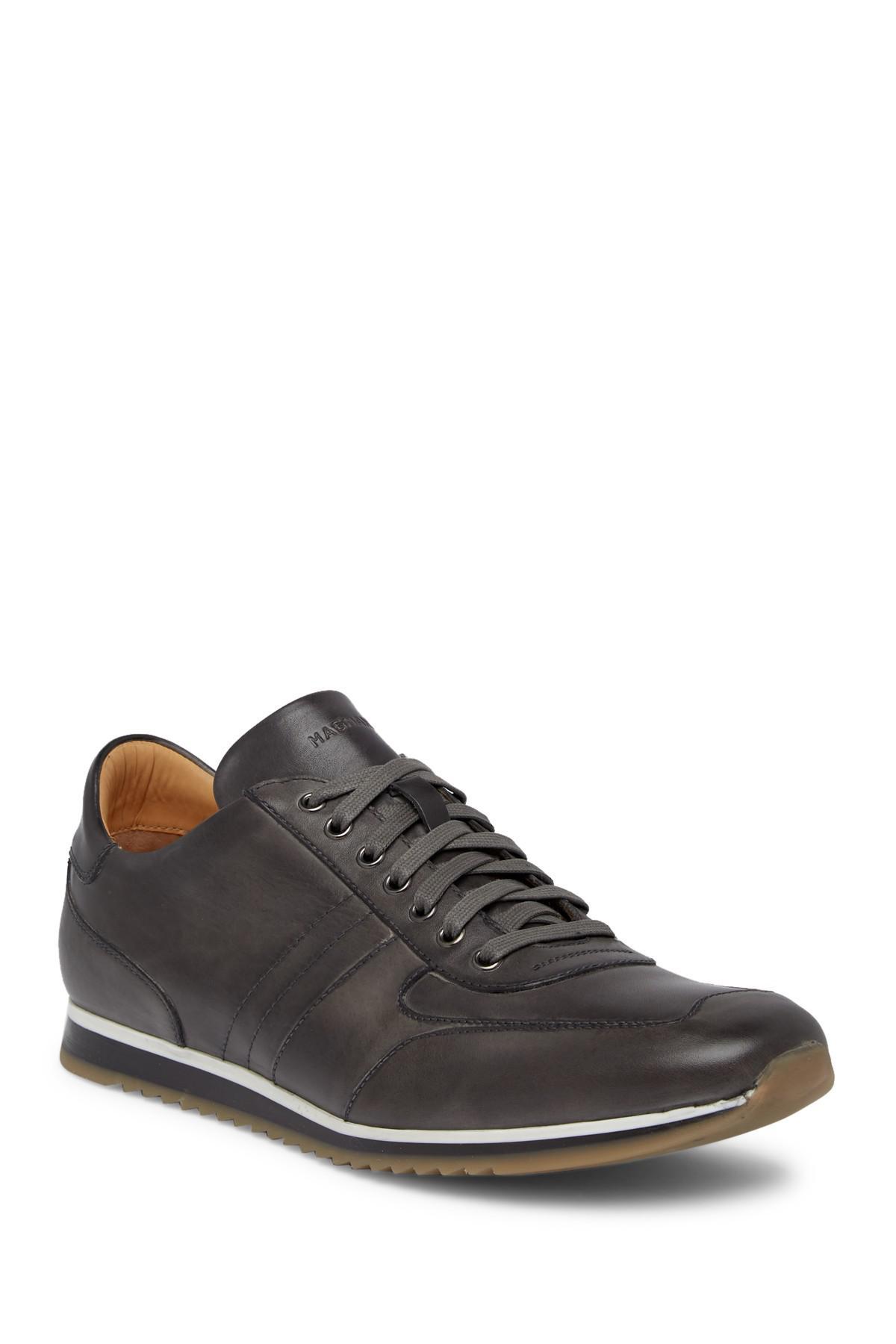 Magnanni. Men's Gray Berkeley Leather Sneaker