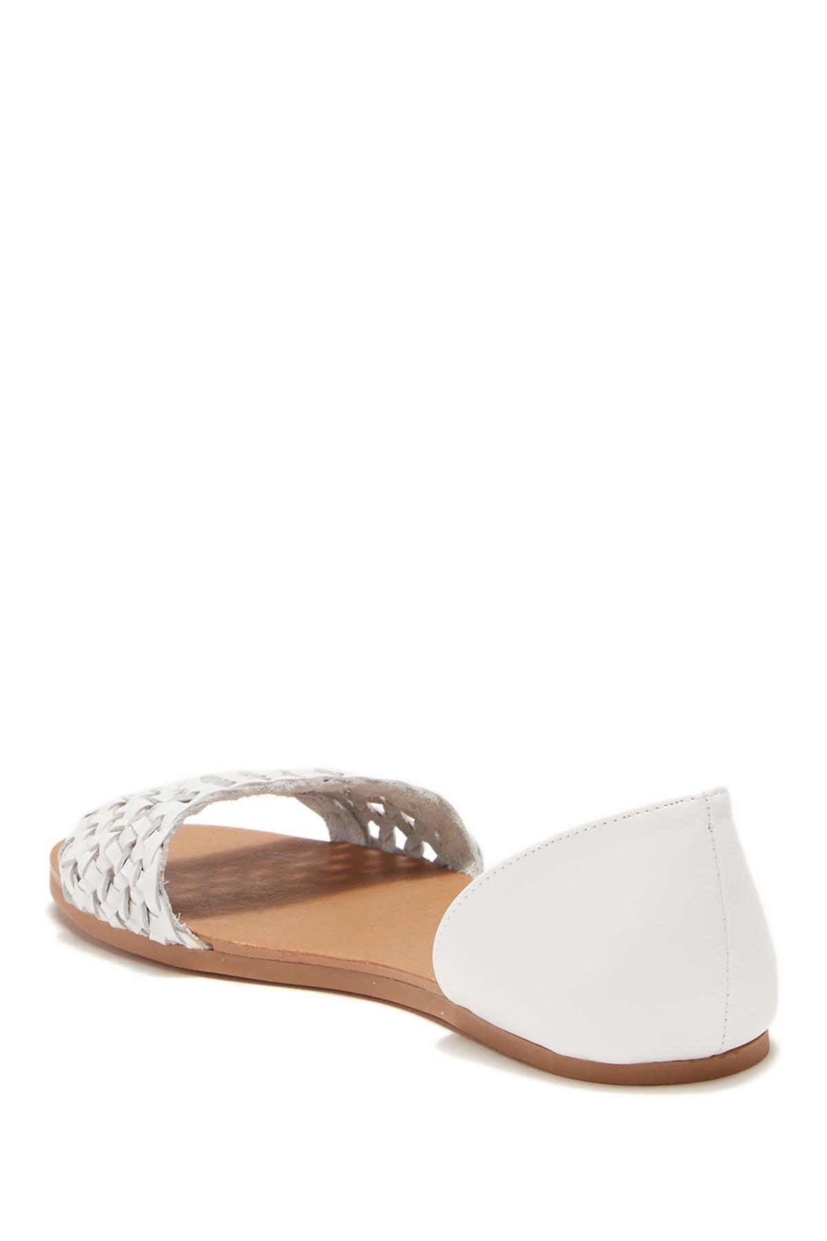 1f7b4b11746 Steve Madden - White Tess Leather Sandal - Lyst. View fullscreen