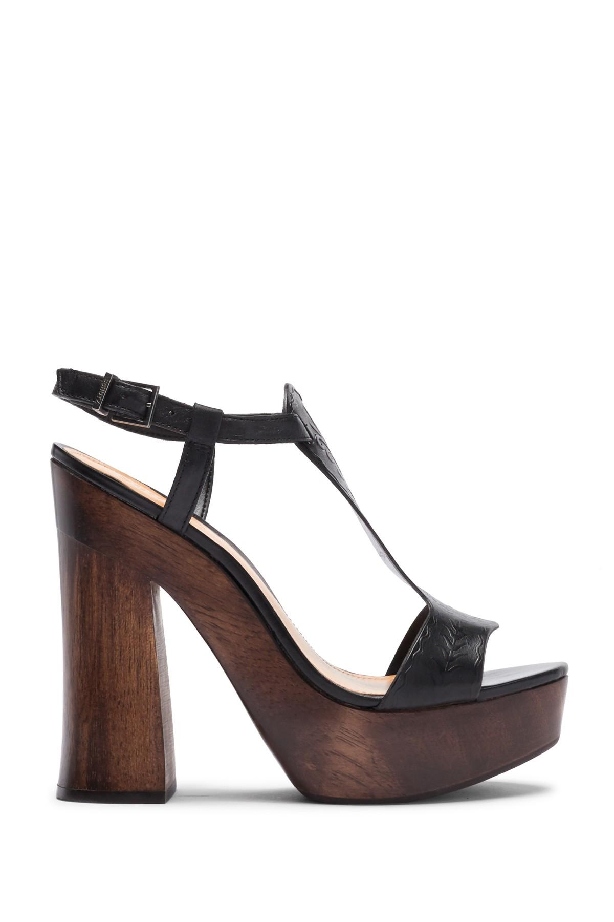 528fd49386a3 Schutz - Black Michele T-strap Platform Sandal - Lyst. View fullscreen