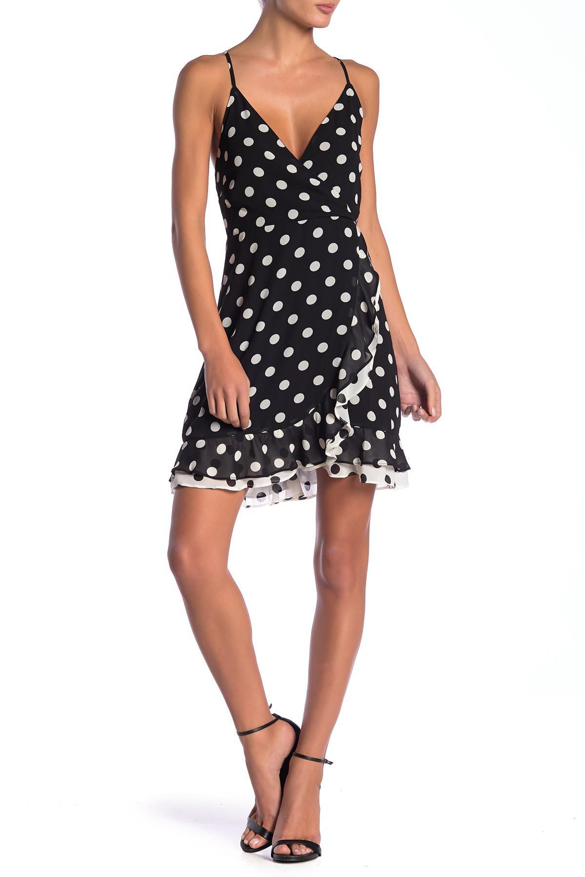 89365f4b92ed Lyst - Bardot Kinsley Printed Wrap Dress in Black