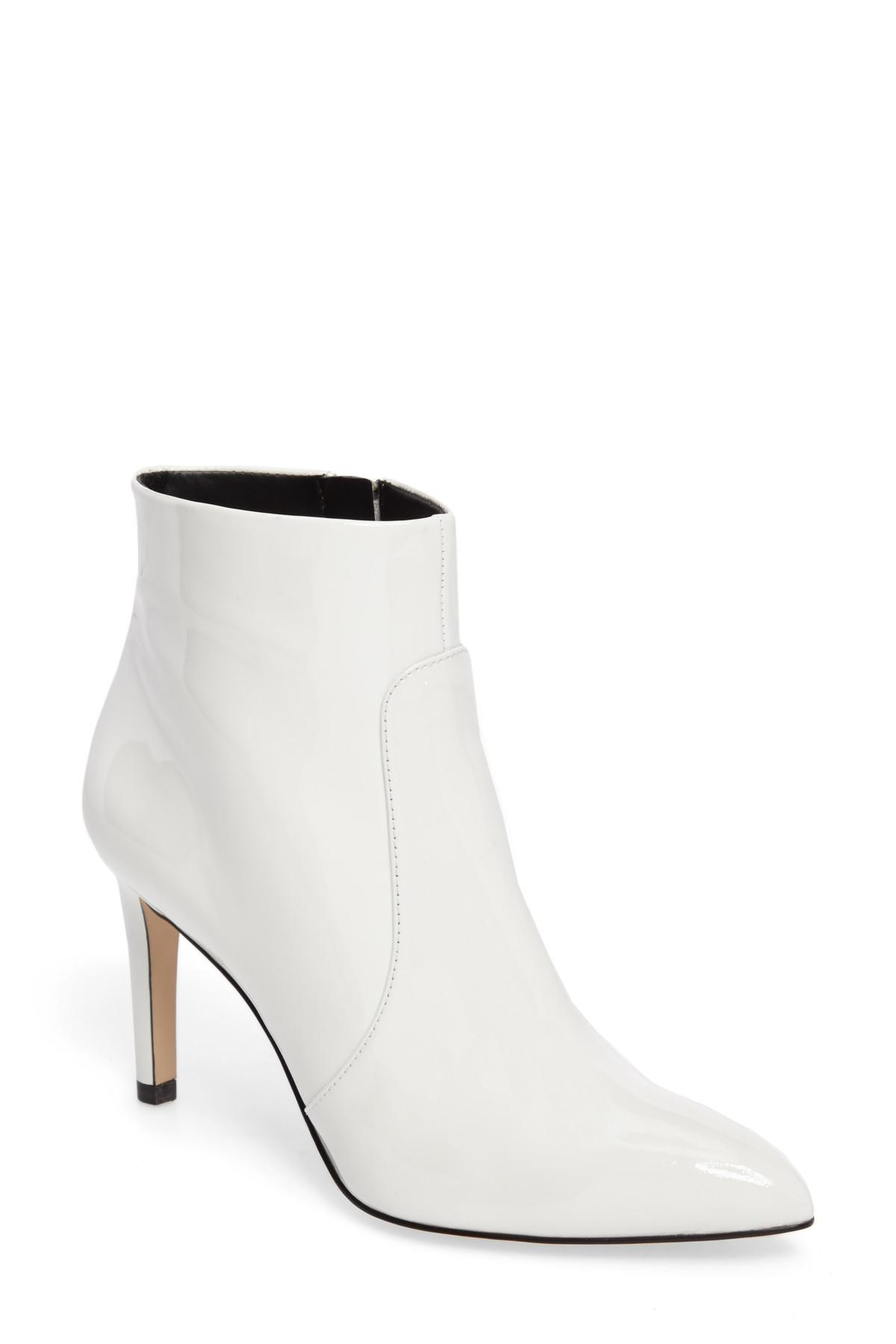 a47c67a526af85 Lyst - Sam Edelman Olette Pointy Toe Bootie in White