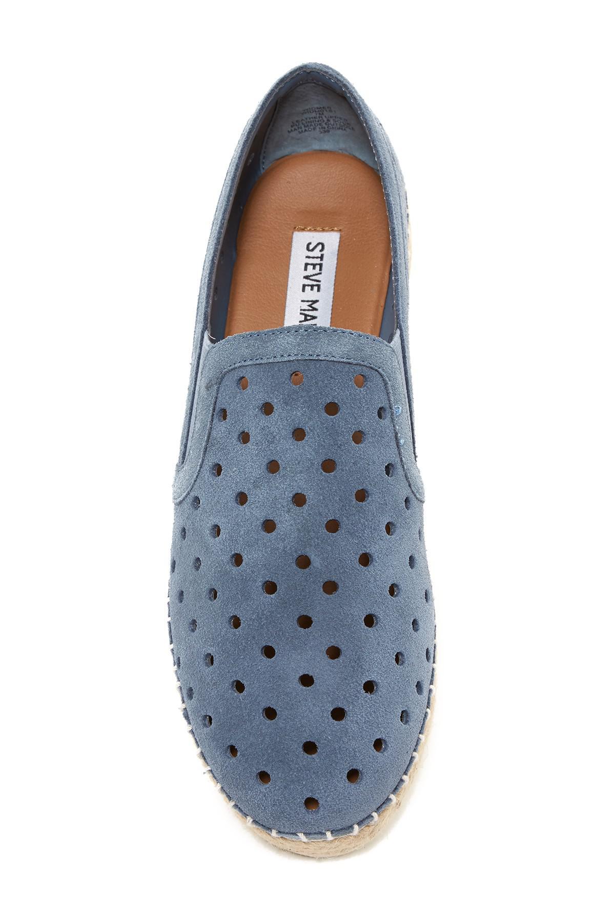 2f3381b0ba3 Steve Madden Blue Widmer Suede Espadrille Sneaker