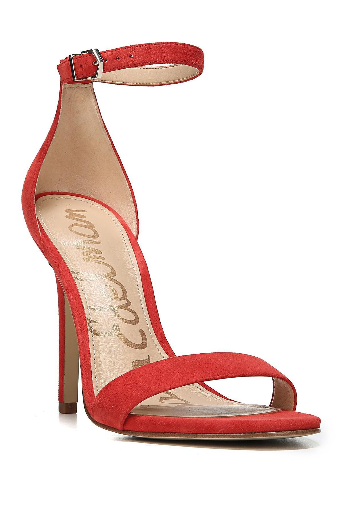 Sam Edelman Jolene Suede Platform Ankle-Strap Sandals eQMd1Or