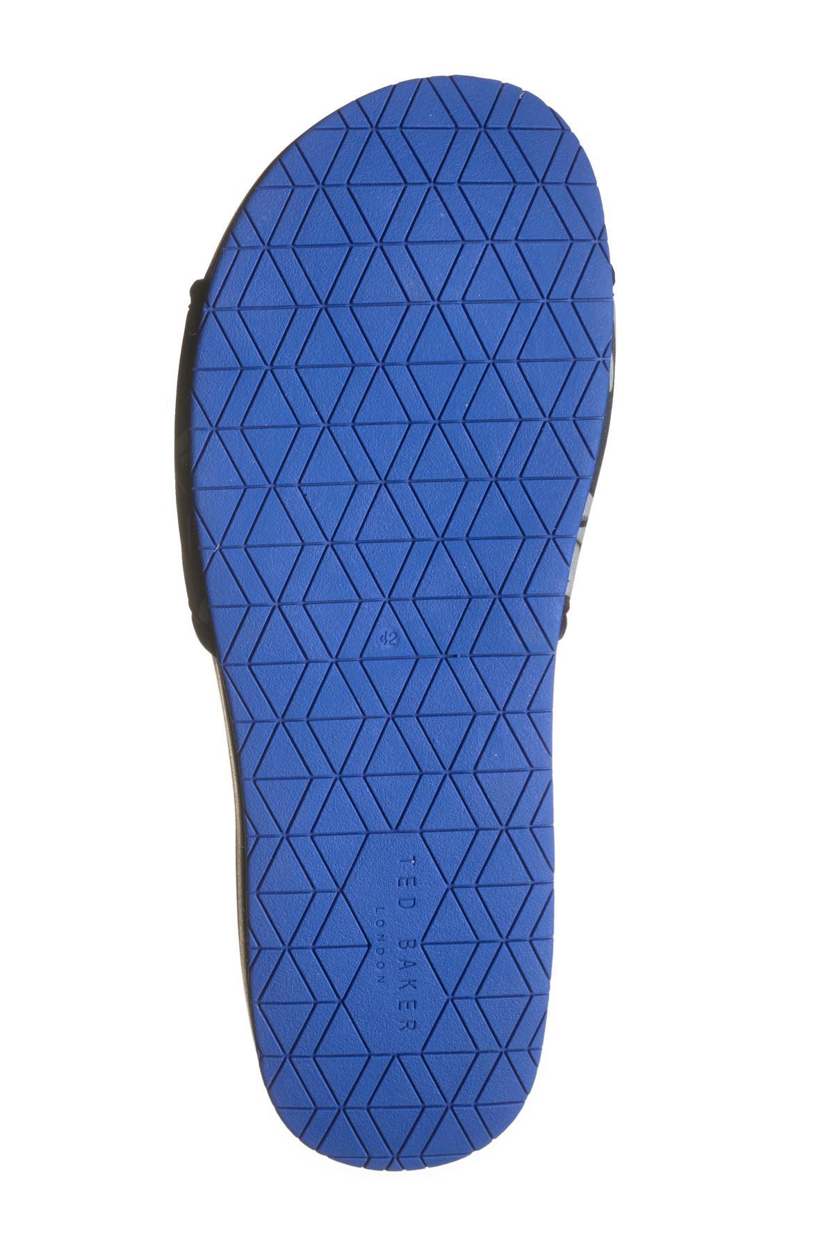 aacb112f2c2e9 Ted Baker - Blue Sauldi Slide Sandal for Men - Lyst. View fullscreen