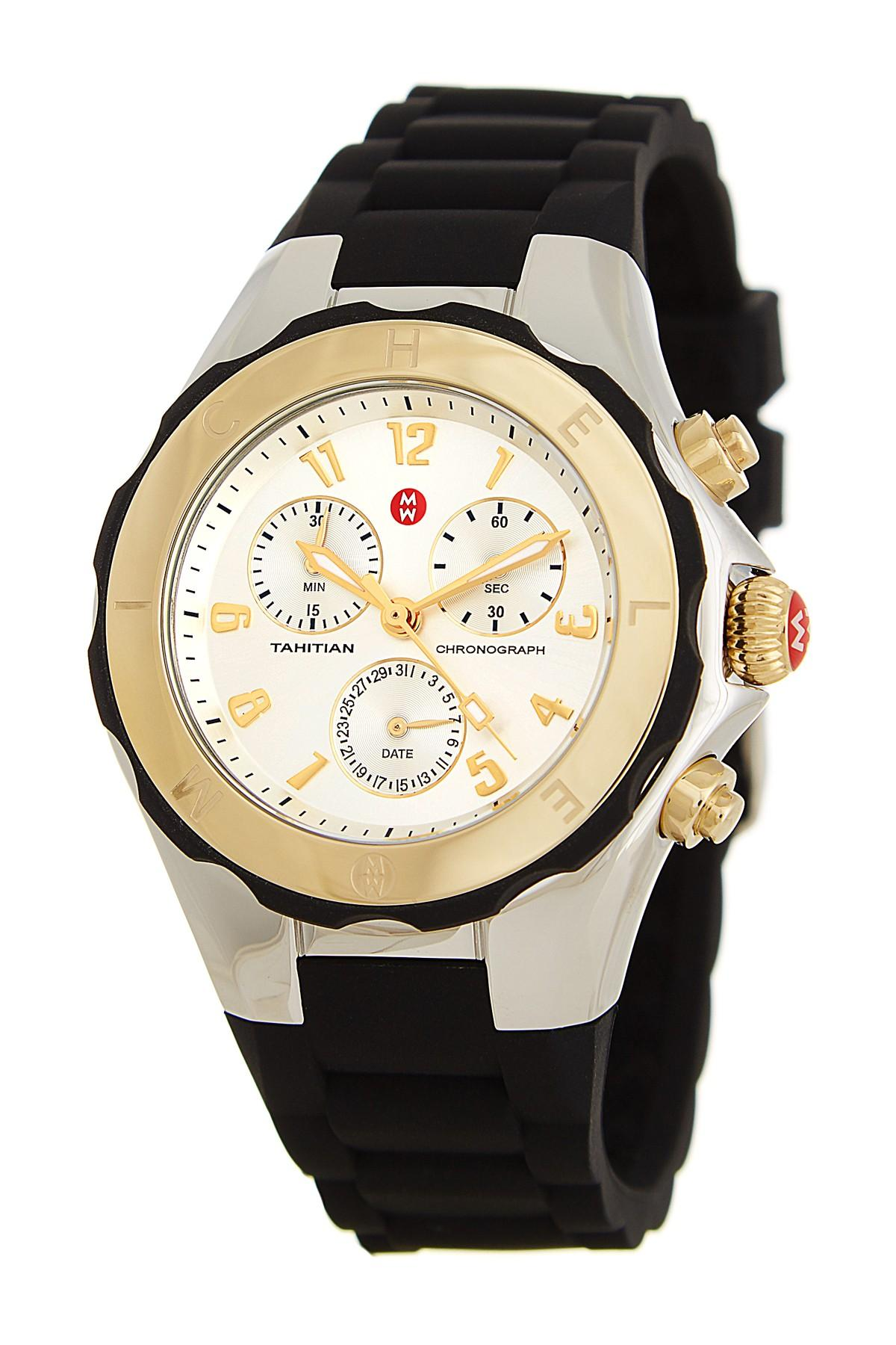 0bc89c221 Michele Women's Tahitian Jelly Bean Two Tone Watch, 40mm in Metallic ...