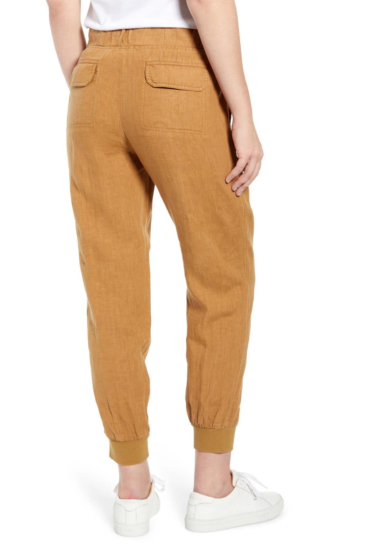 Caslon Linen Jogger Pants Black NWT $59