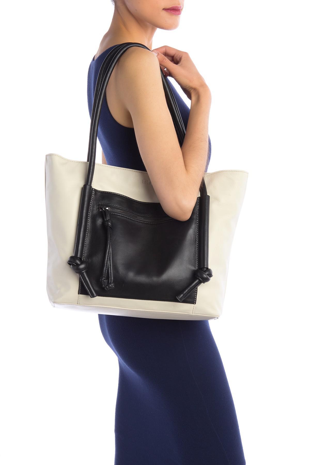 Kooba - Black Cameroon Leather Tote Bag - Lyst. View fullscreen 1a639484d4c44