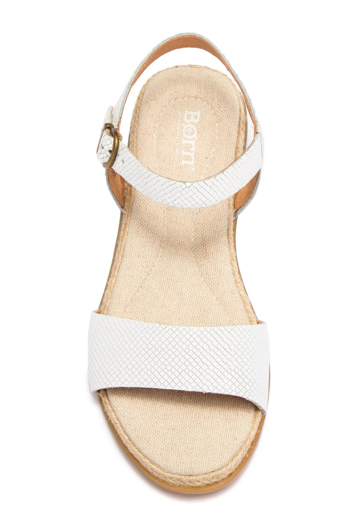 fcf86fbfb706 Lyst - Born B rn Welch Sandal (women) in White