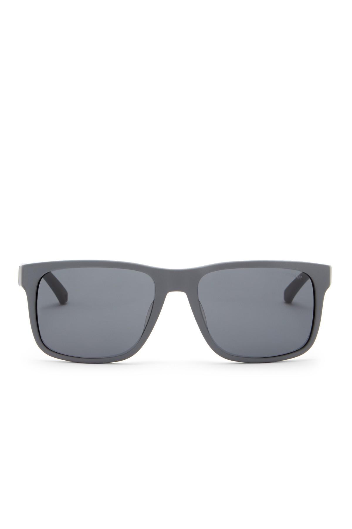 c8d833f21f08 Lyst - Emporio Armani 56mm Wayfarer Acetate Frame Sunglasses in Gray ...