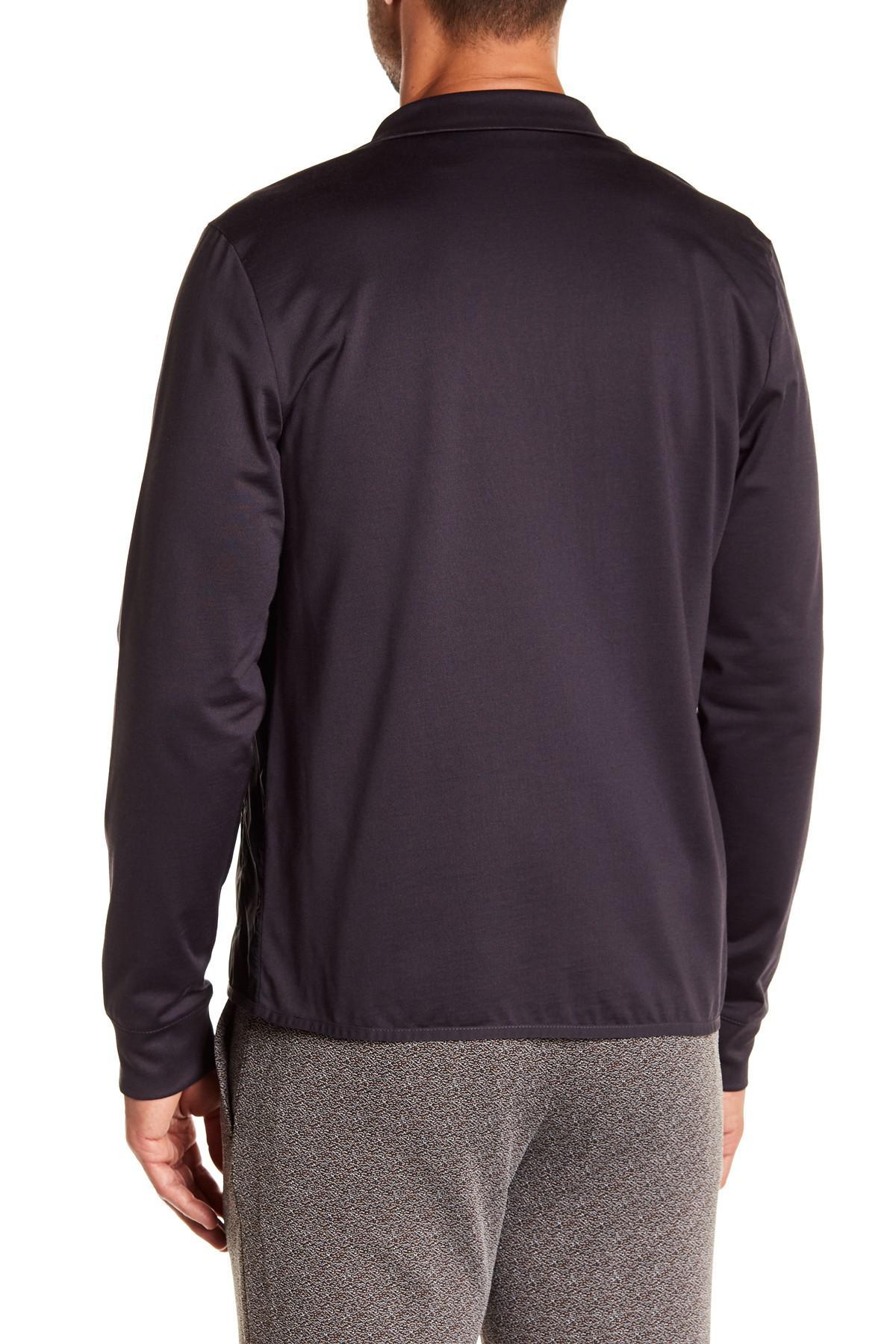 Lyst Perry Ellis Cotton Polyester Mock Neck Jacket For Men