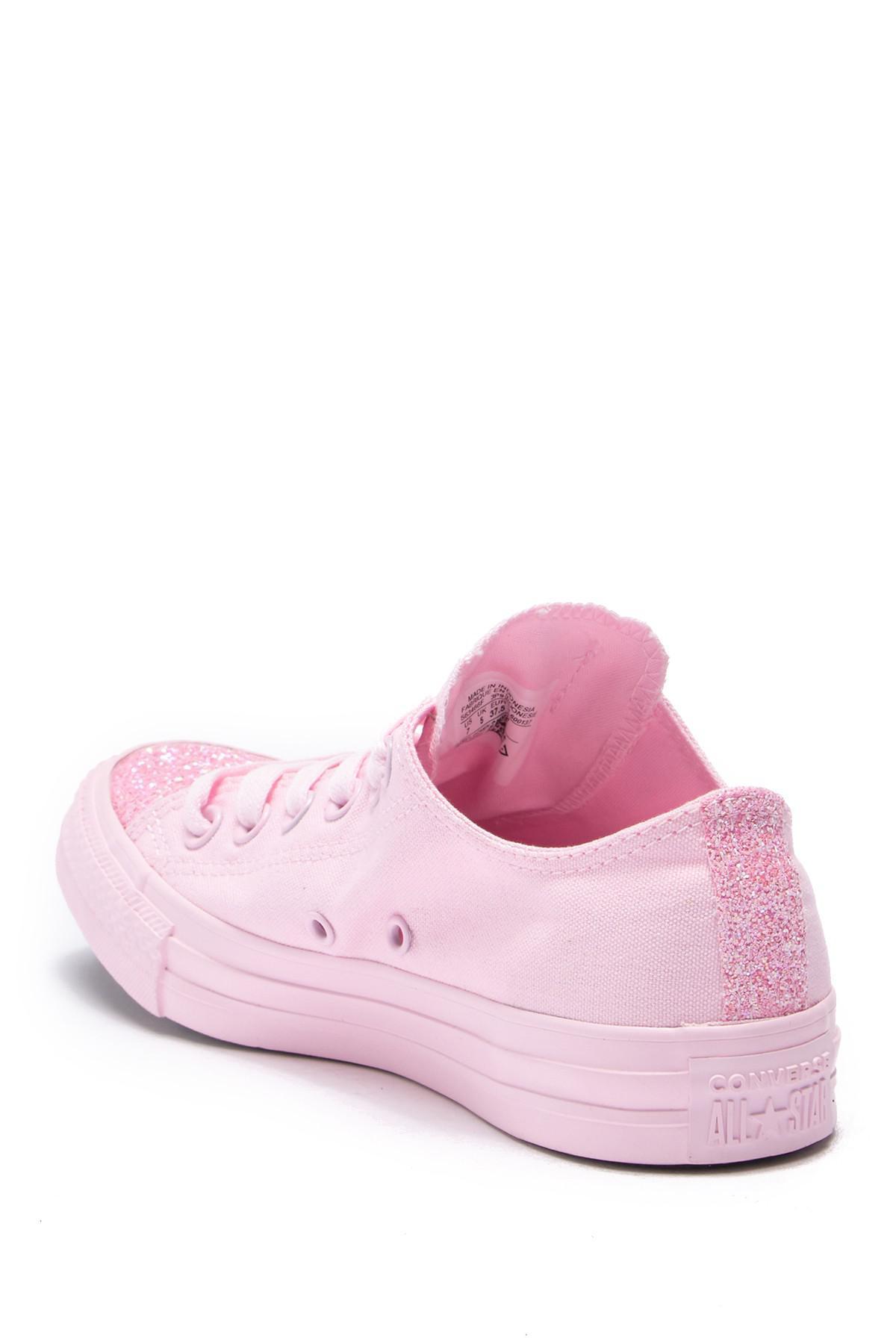 663af38e793f55 Converse - Pink Chuck Taylor All Star Ox Glitter Toe Sneaker (women) -  Lyst. View fullscreen