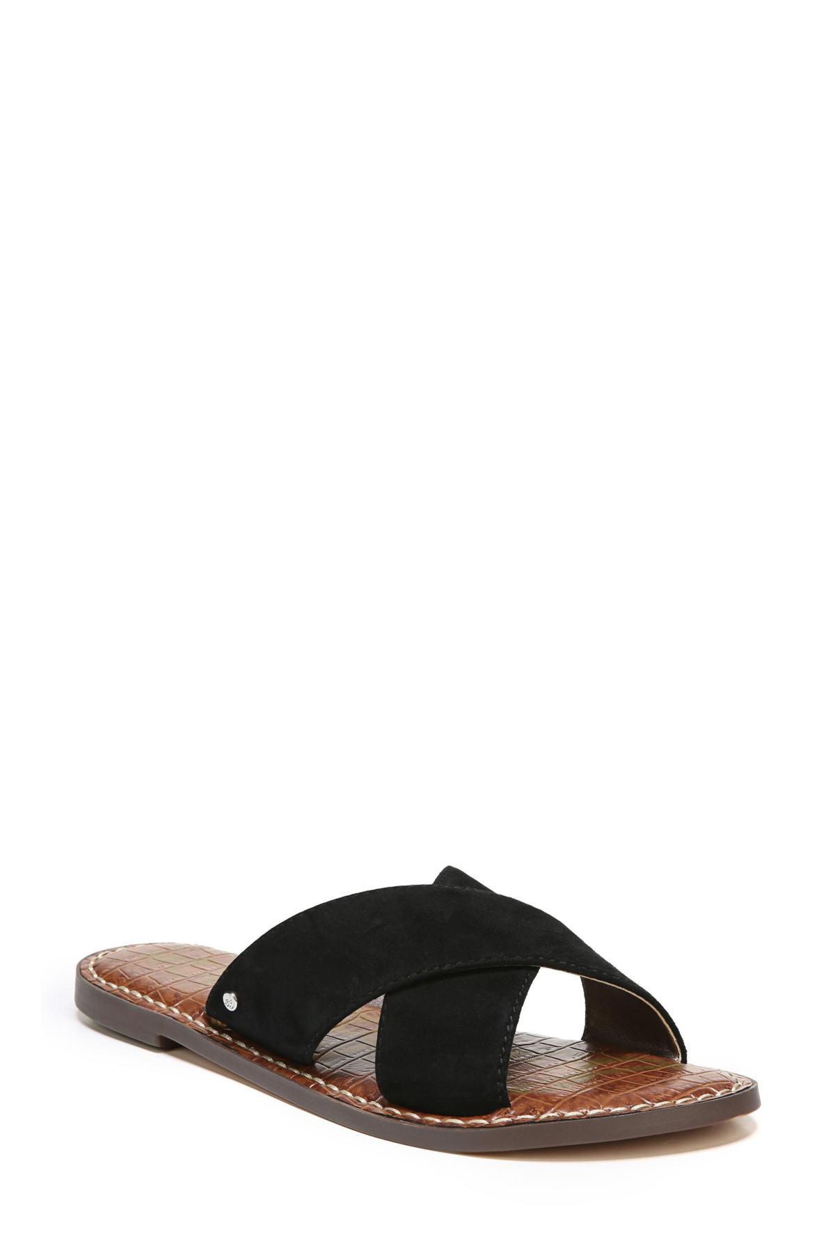 f13fe27f446b Lyst - Sam Edelman Gertrude Cross Strap Slide Sandal (women) in Black