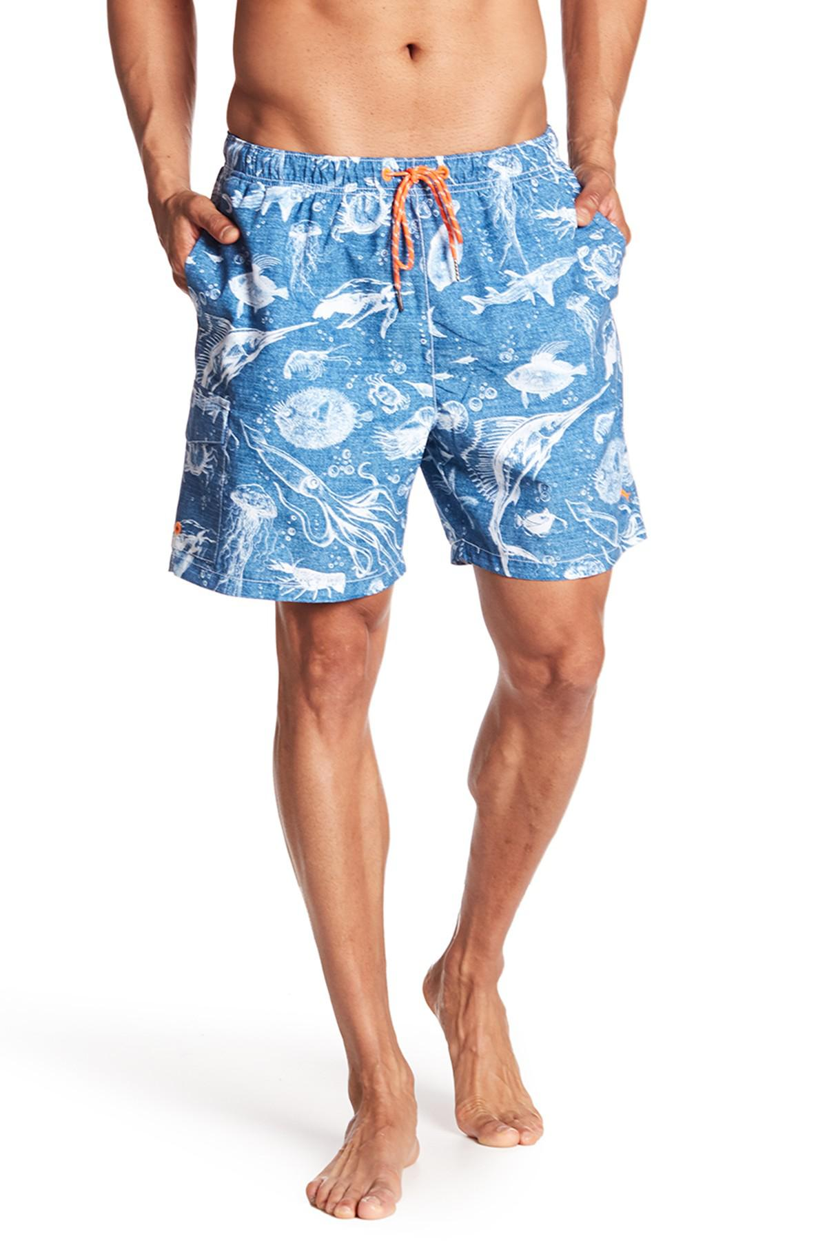 45f7441288f9a Lyst - Tommy Bahama Naples Marlin Party Swim Trunks in Blue for Men