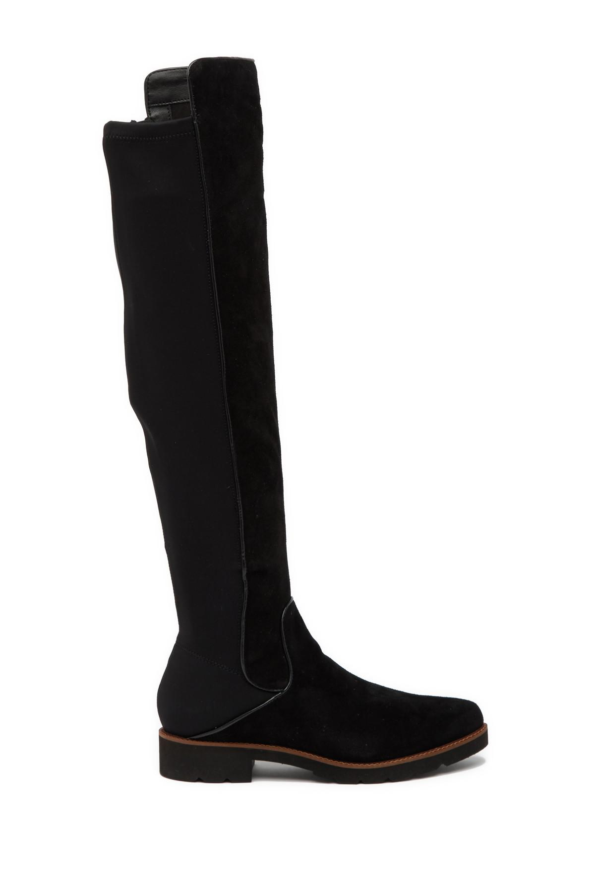 2c191bea82b Lyst - Franco Sarto Benner Suede Over-the-knee Boot in Black