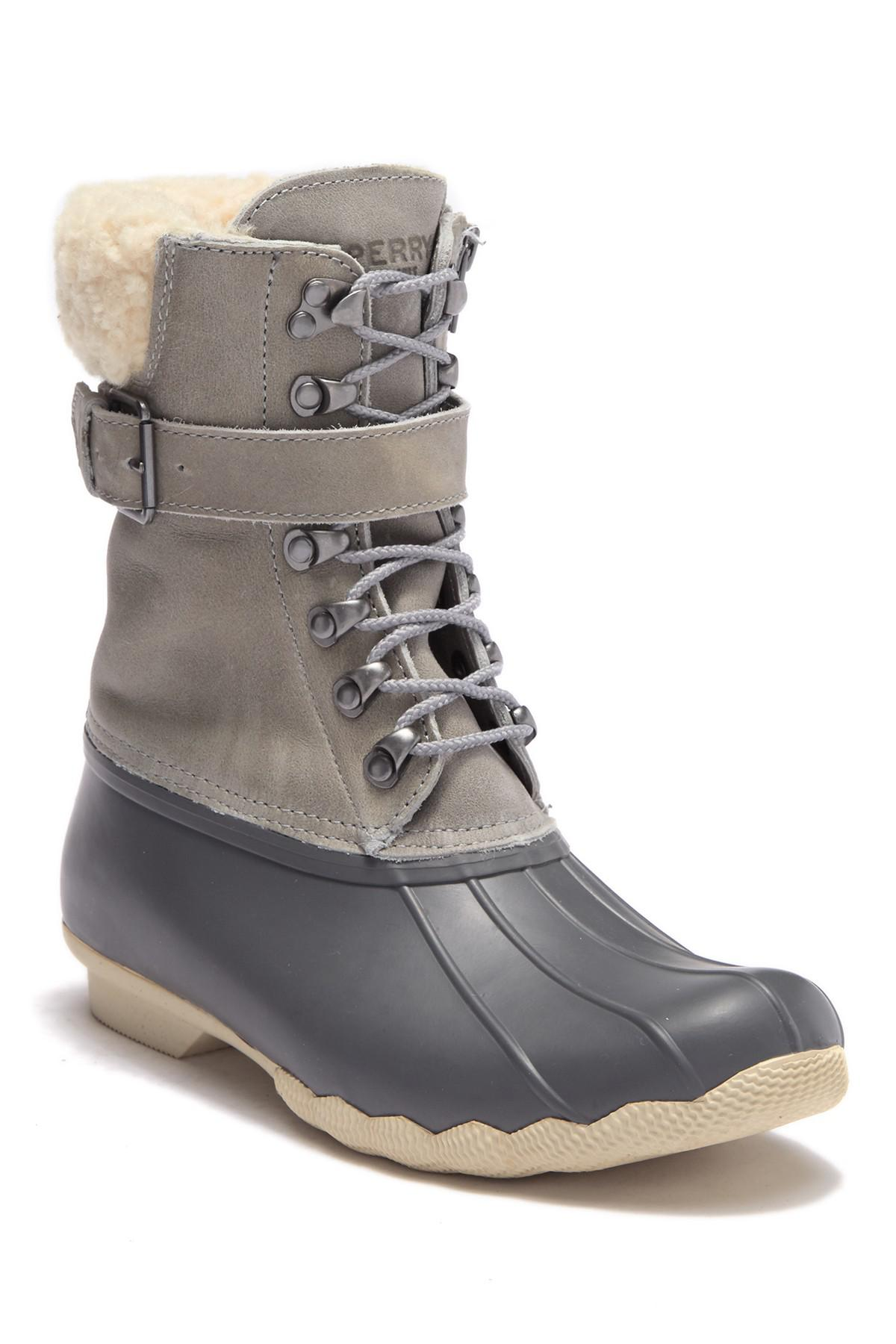 e9cf7846a7f8 Lyst - Sperry Top-Sider Shearwater Water-resistant Boot (women) in Gray