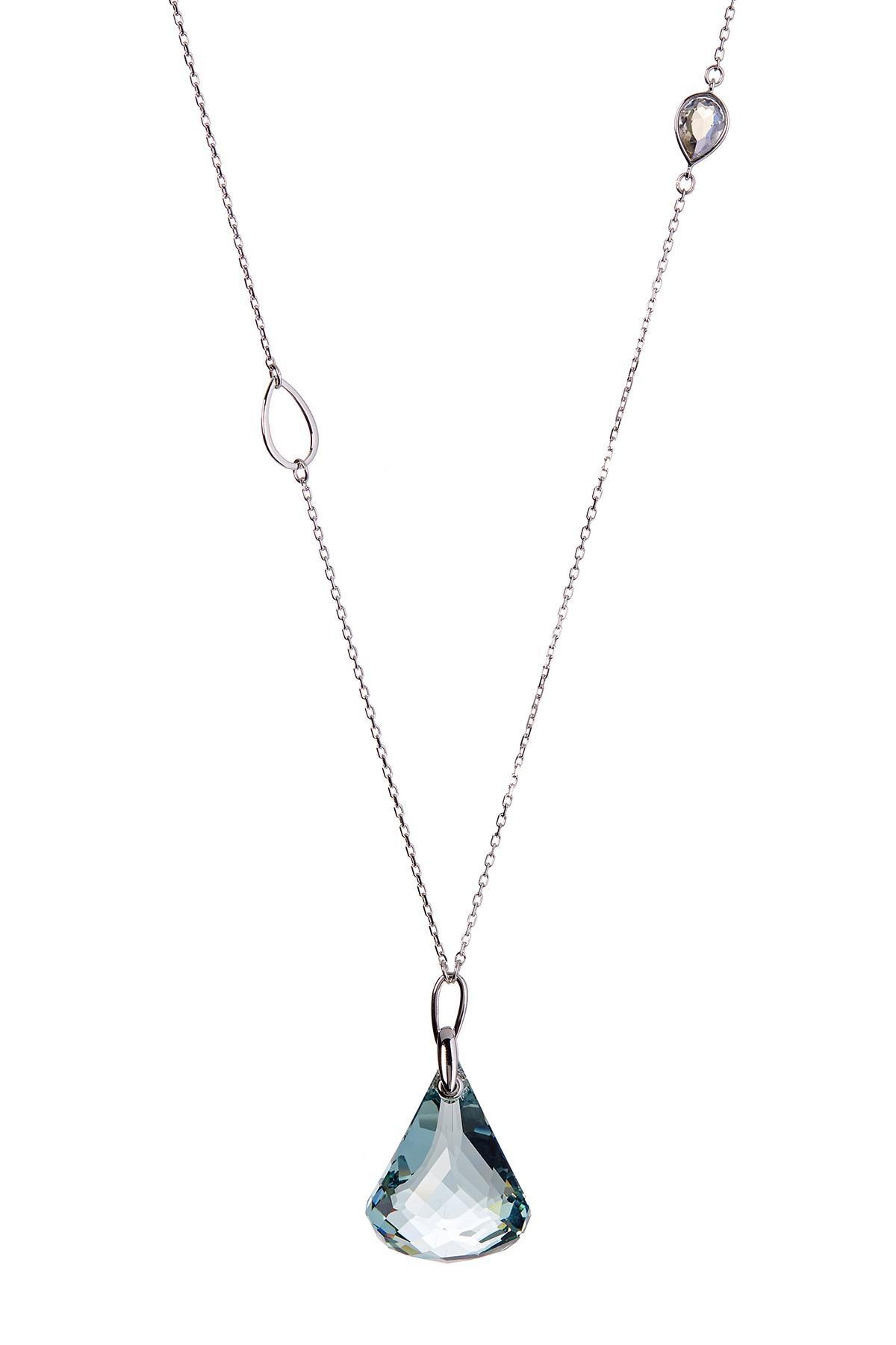 d1f2ed5fc2974b Swarovski Lunar Moonlight Crystal Pendant Necklace in Blue - Lyst