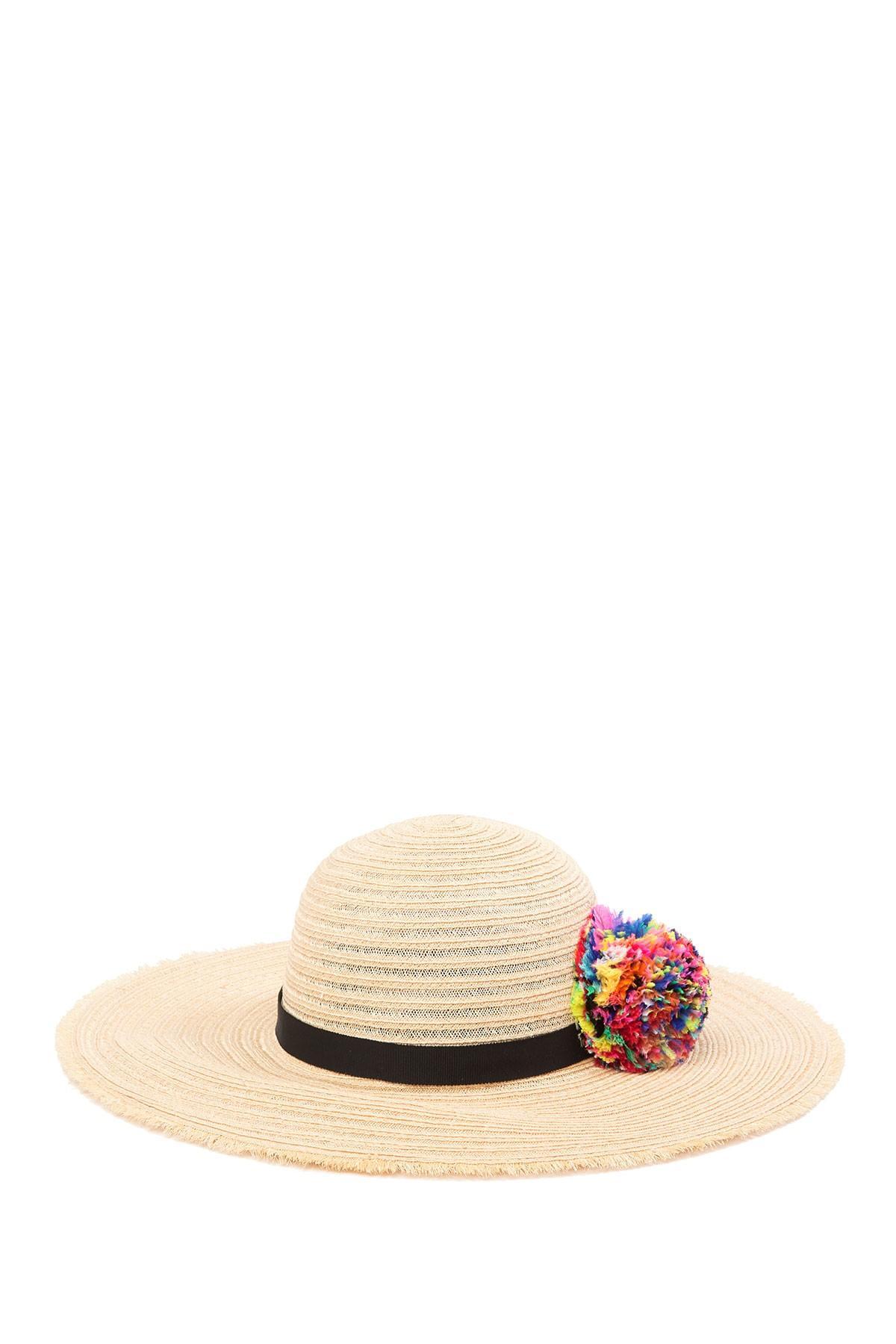 c407f3d4 Lyst - Eugenia Kim Honey Multi Pom Floppy Hat in Natural
