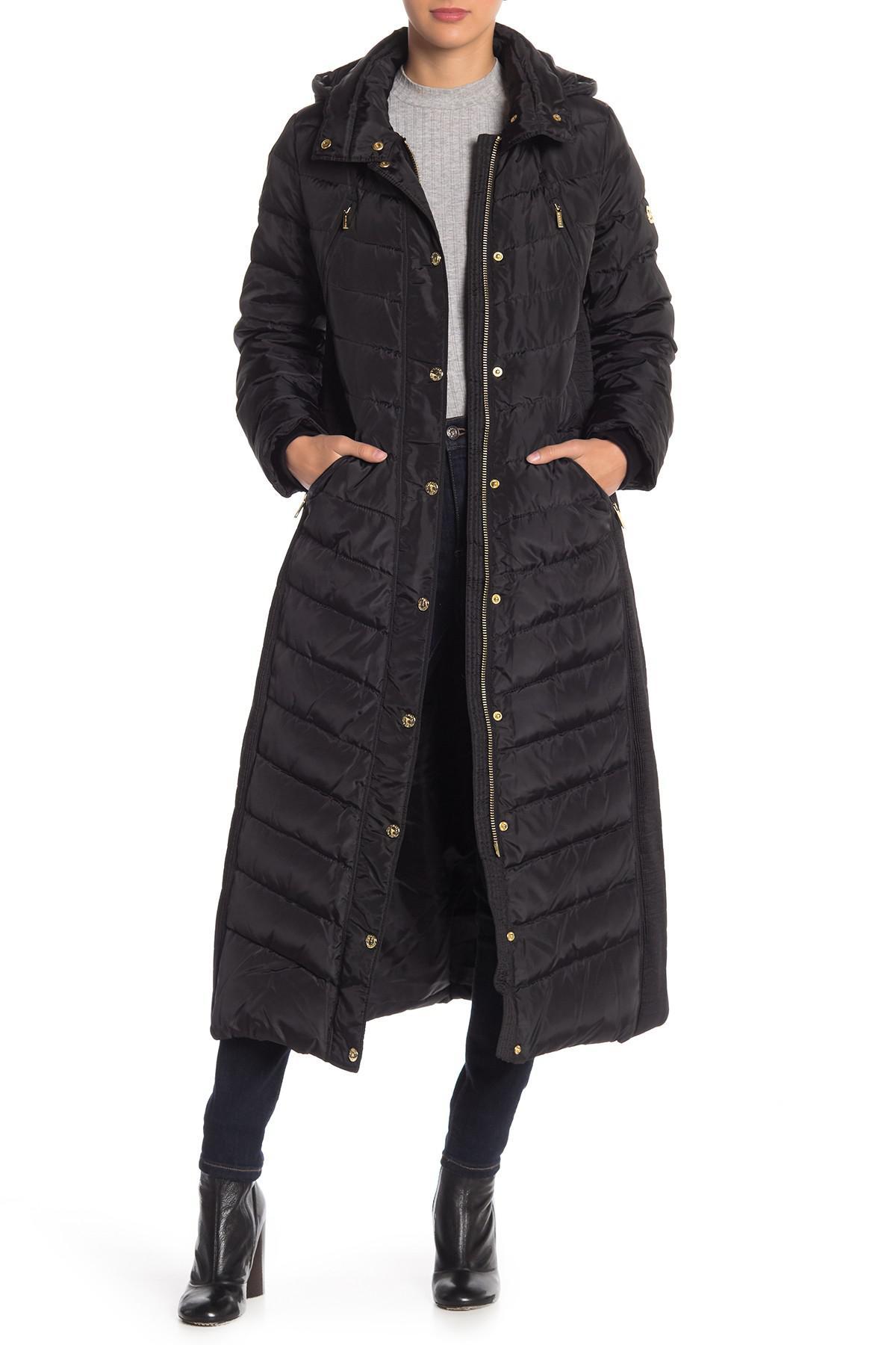 f1a6657f63c MICHAEL Michael Kors Missy Maxi Down Jacket in Black - Lyst