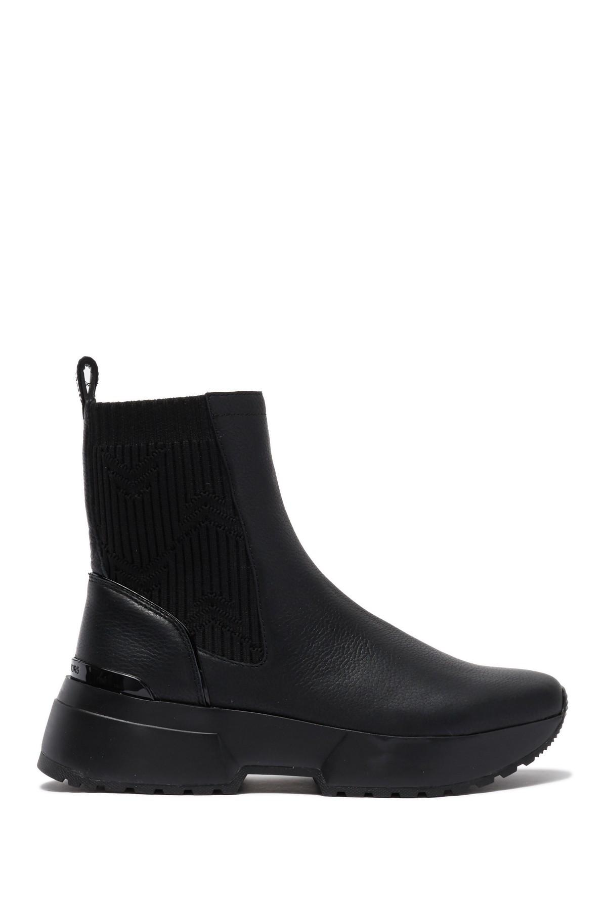 Michael Kors Cosmo Leather Sneaker Boot