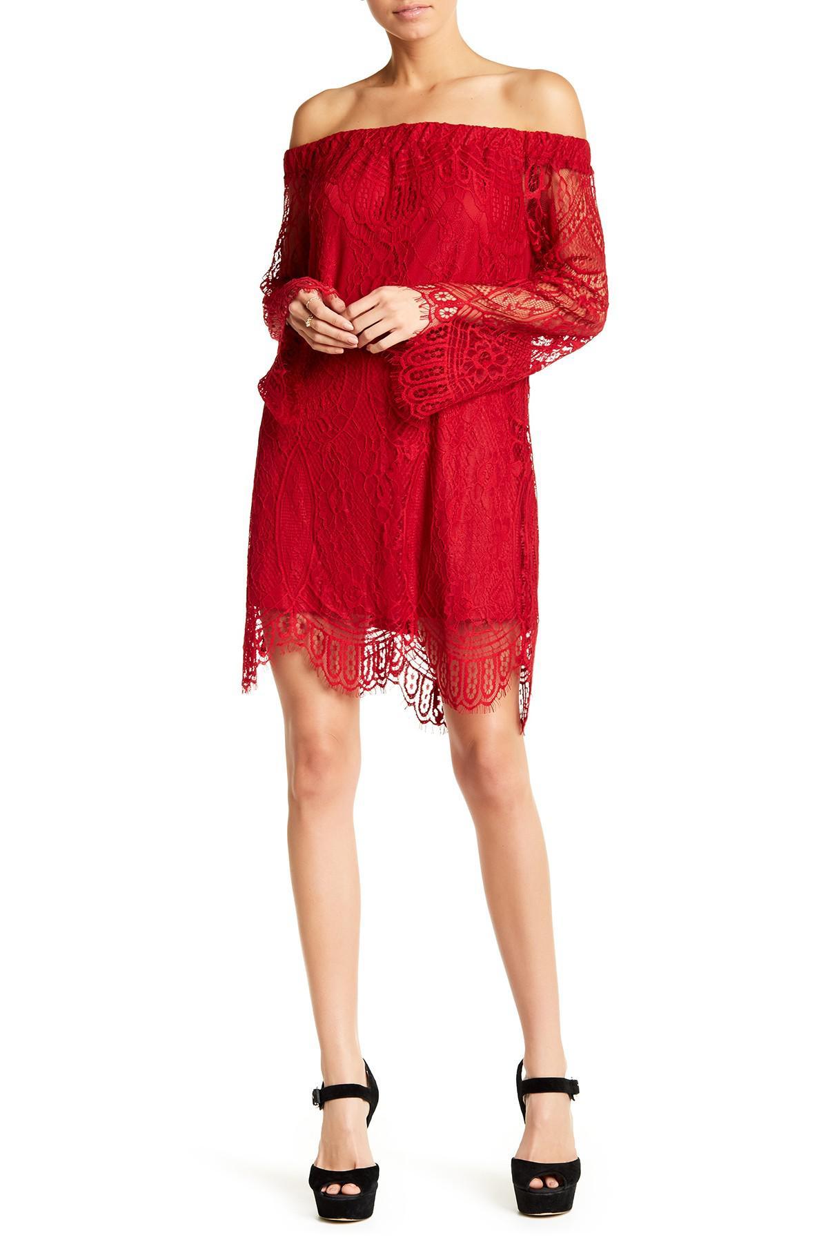 Love fire lace dress