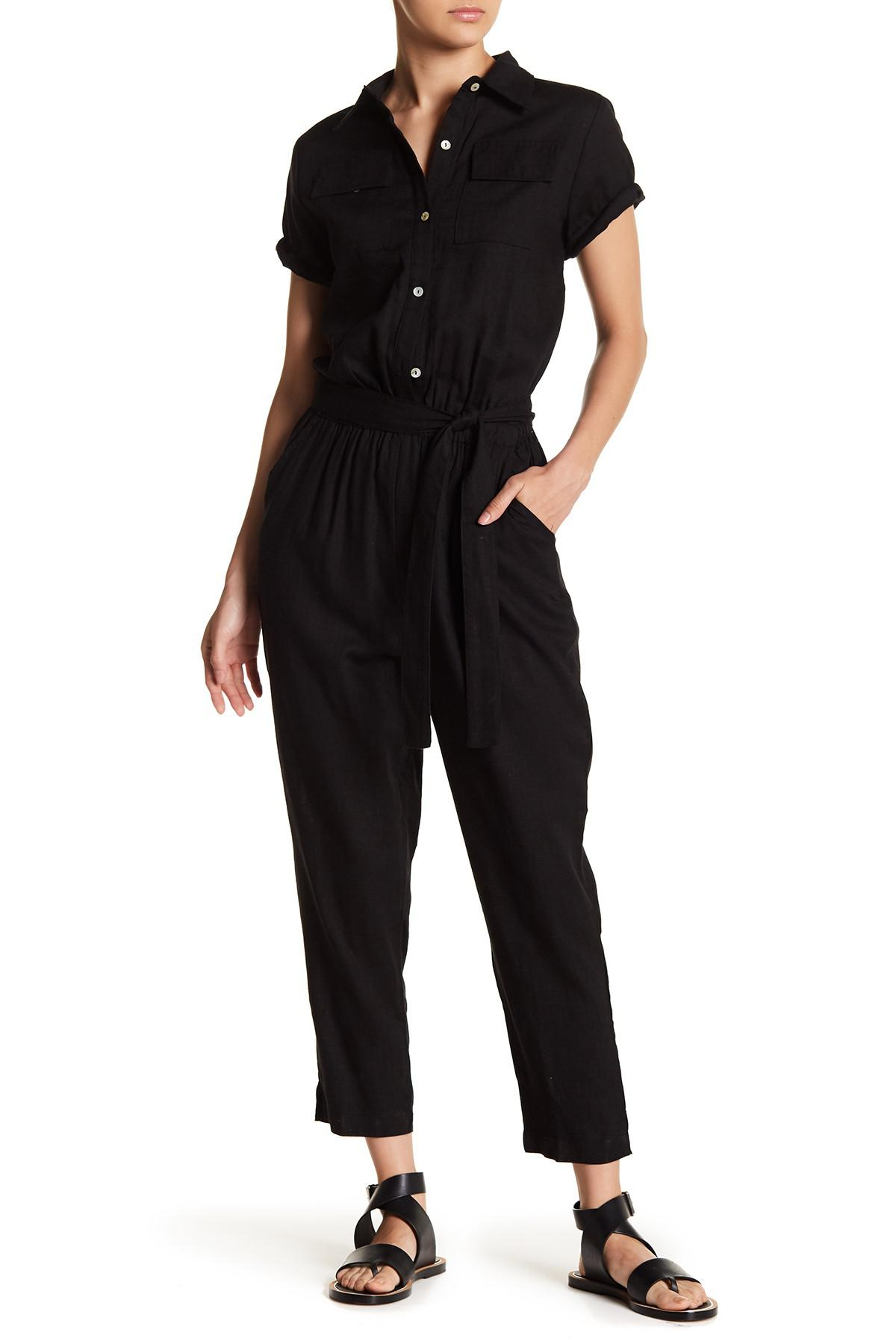 a4b97039726e Lyst - Fate Short Sleeve Jumpsuit in Black