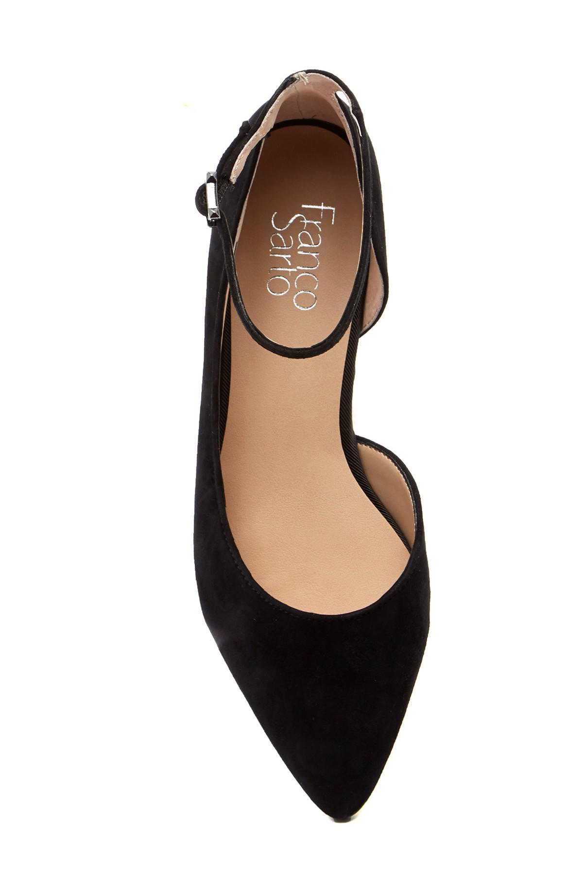 Franco Sarto Slide Leather Ankle Strap Flat gKE7YC