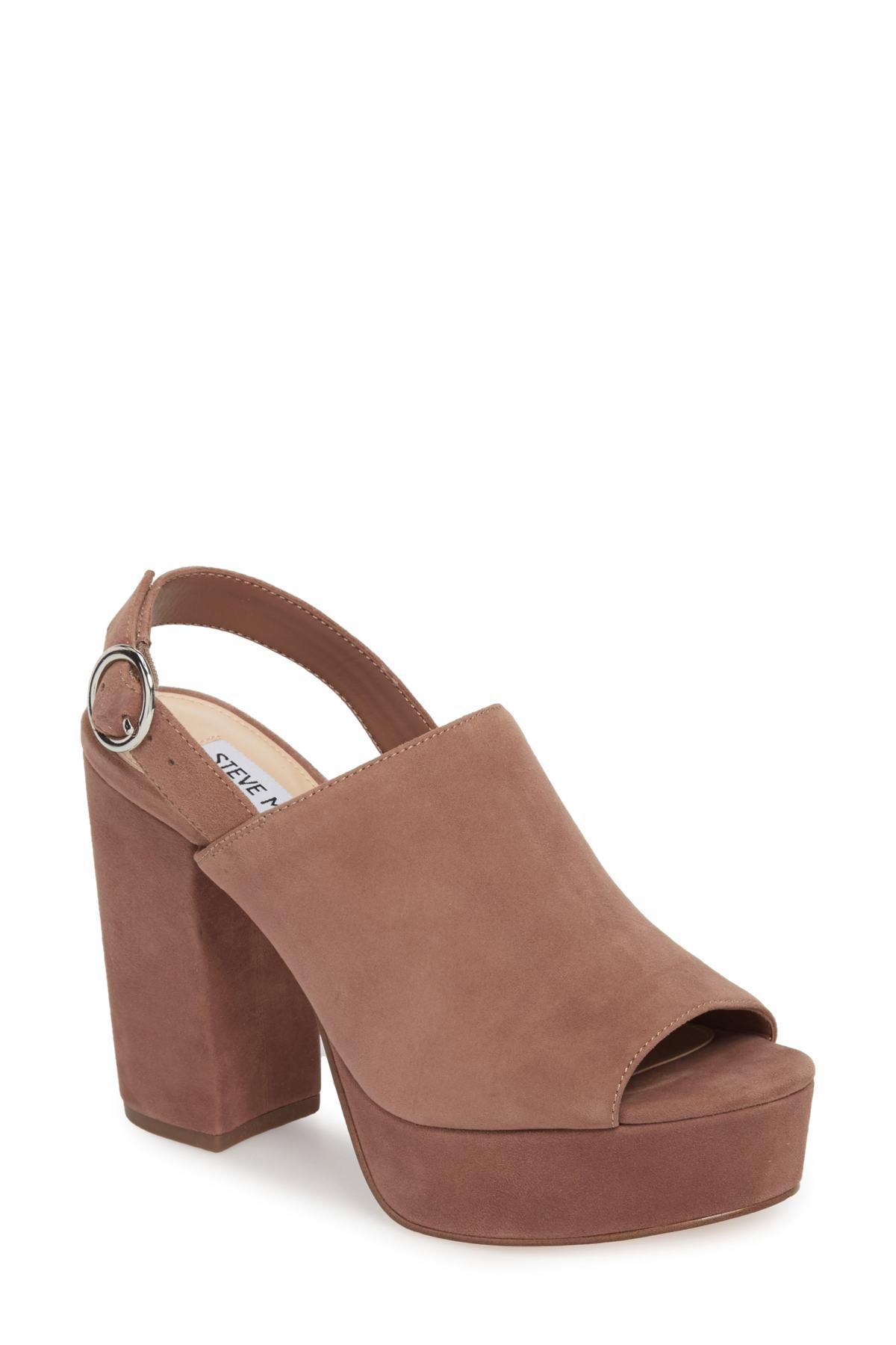 379fa32a8a496 Steve Madden Brown Carter Slingback Platform Sandal (women)