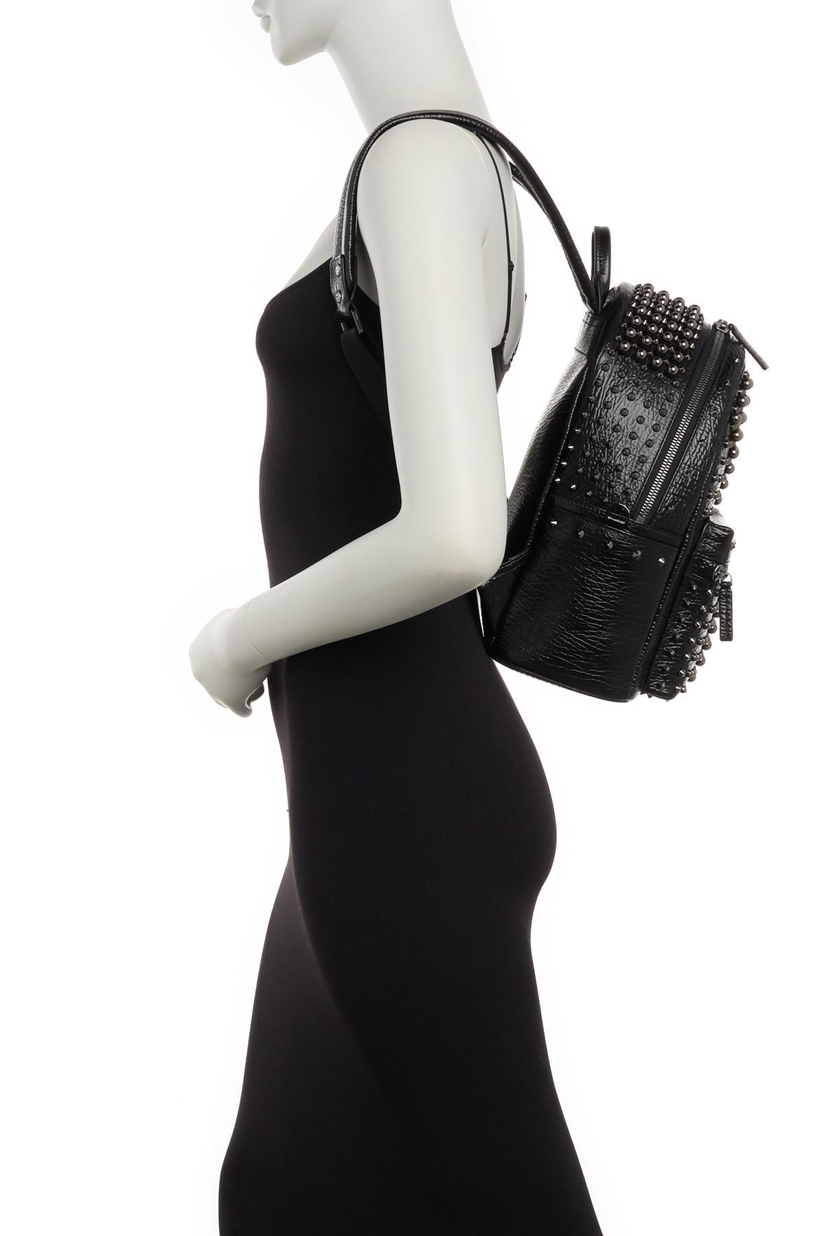03722bdc60e MCM - Black Stark Pearl Stud Leather Backpack - Lyst. View fullscreen
